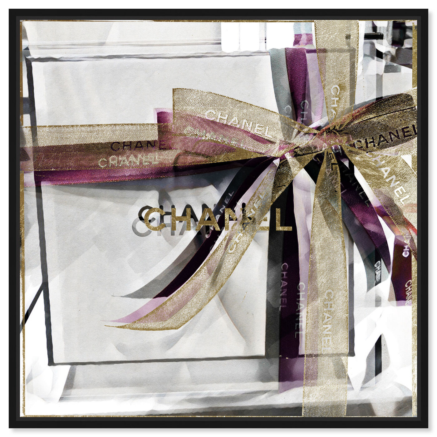 Front view of Lilac Gift Box featuring fashion and glam and fashion art.