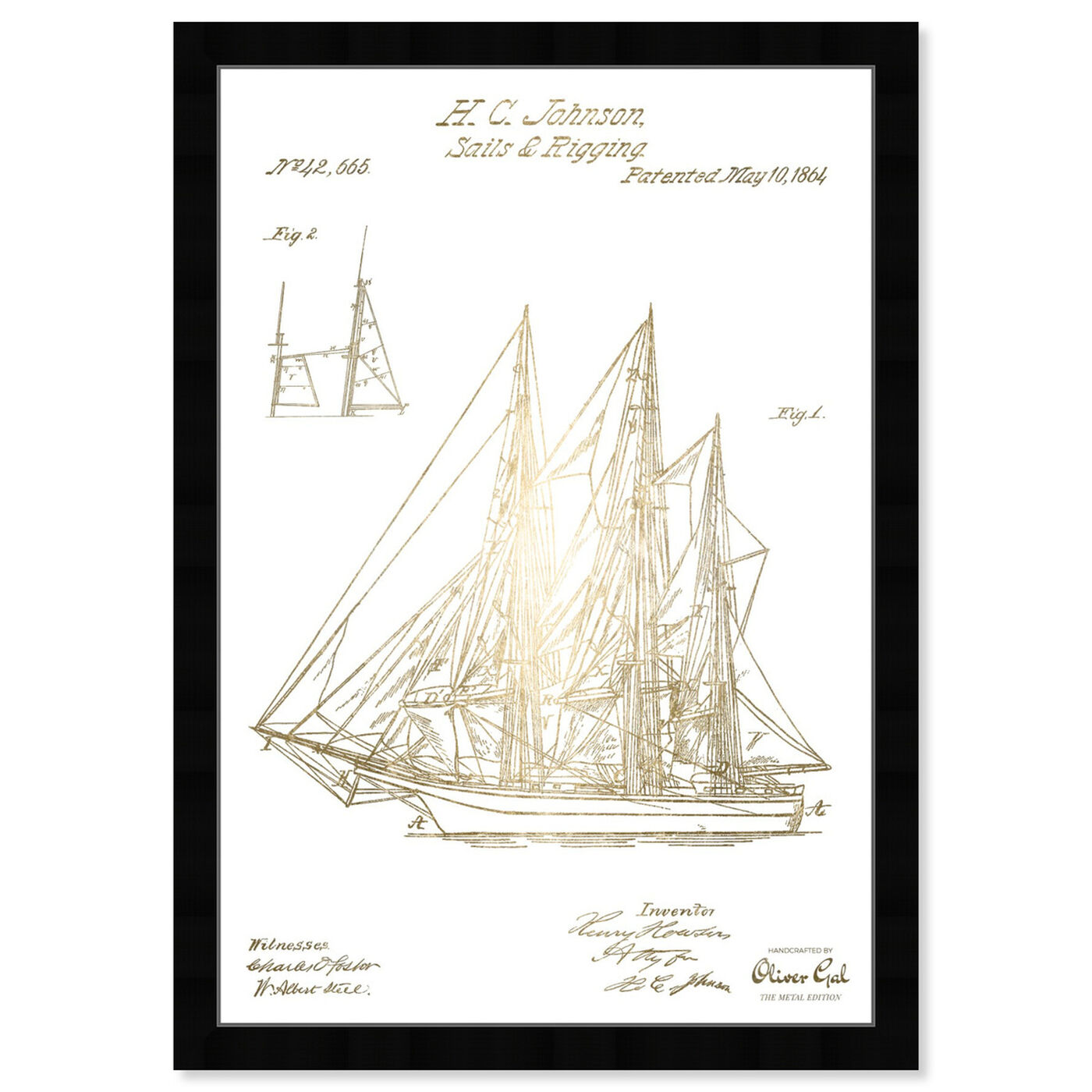 Front view of Sail And Rigging 1864 II featuring transportation and boats and yachts art.