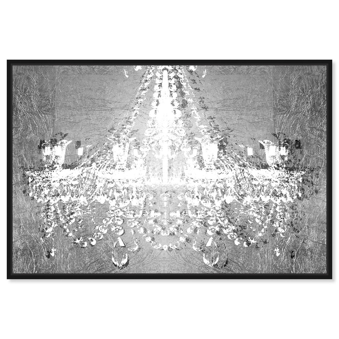 Front view of Dramatic Entrance Chrome featuring fashion and glam and chandeliers art.