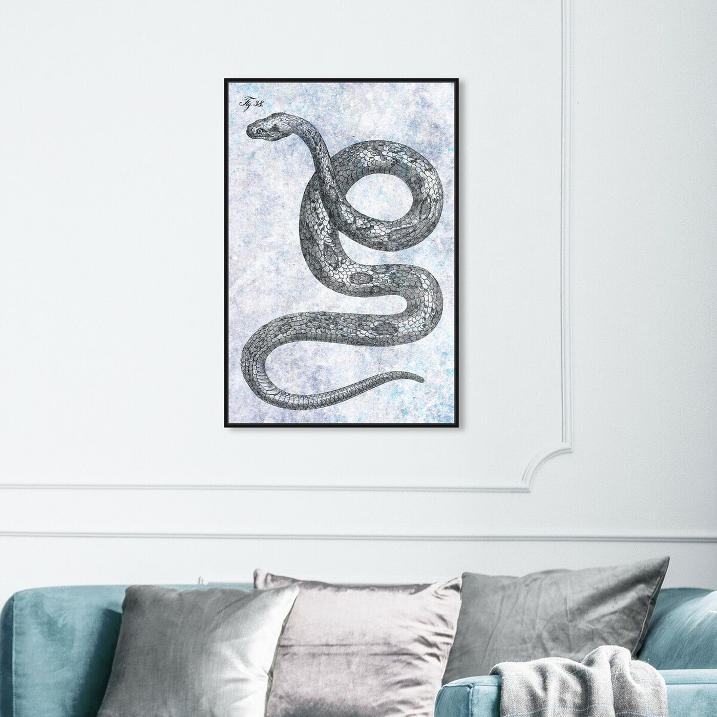 Hanging view of Single Snake featuring animals and zoo and wild animals art.