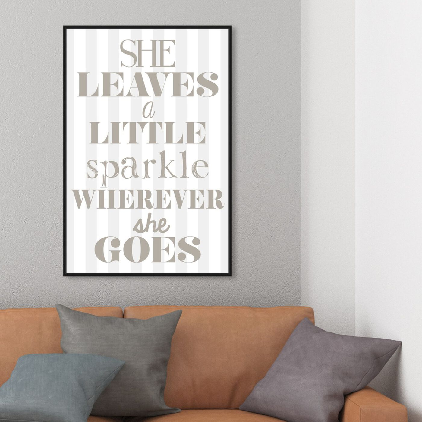 Hanging view of Little Sparkle featuring typography and quotes and beauty quotes and sayings art.