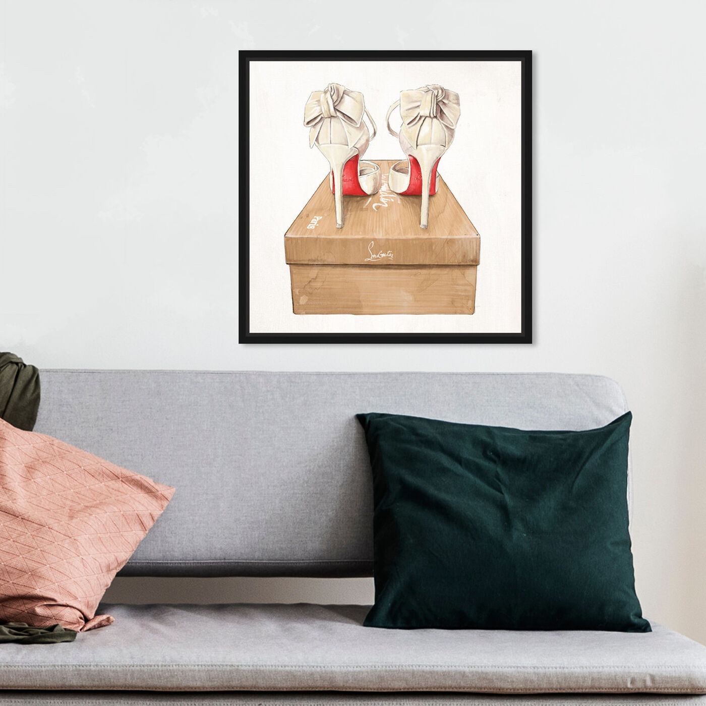 Hanging view of Wedbliss Shoes I featuring fashion and glam and shoes art.