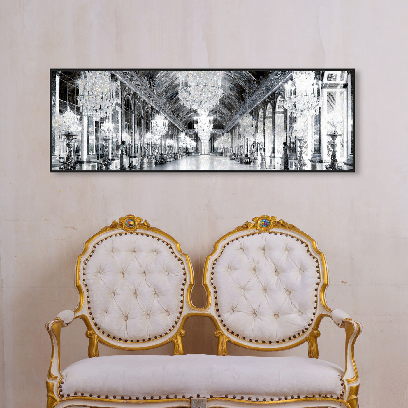 Hanging view of Barroque Mirrors featuring architecture and buildings and structures art.