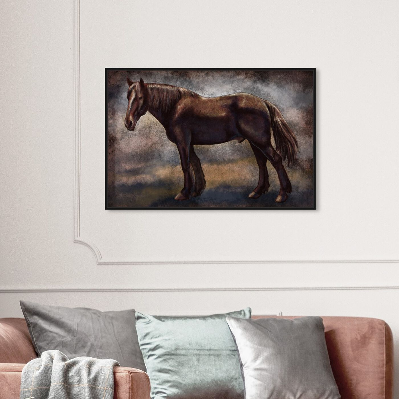 Hanging view of Brown Horse featuring animals and farm animals art.