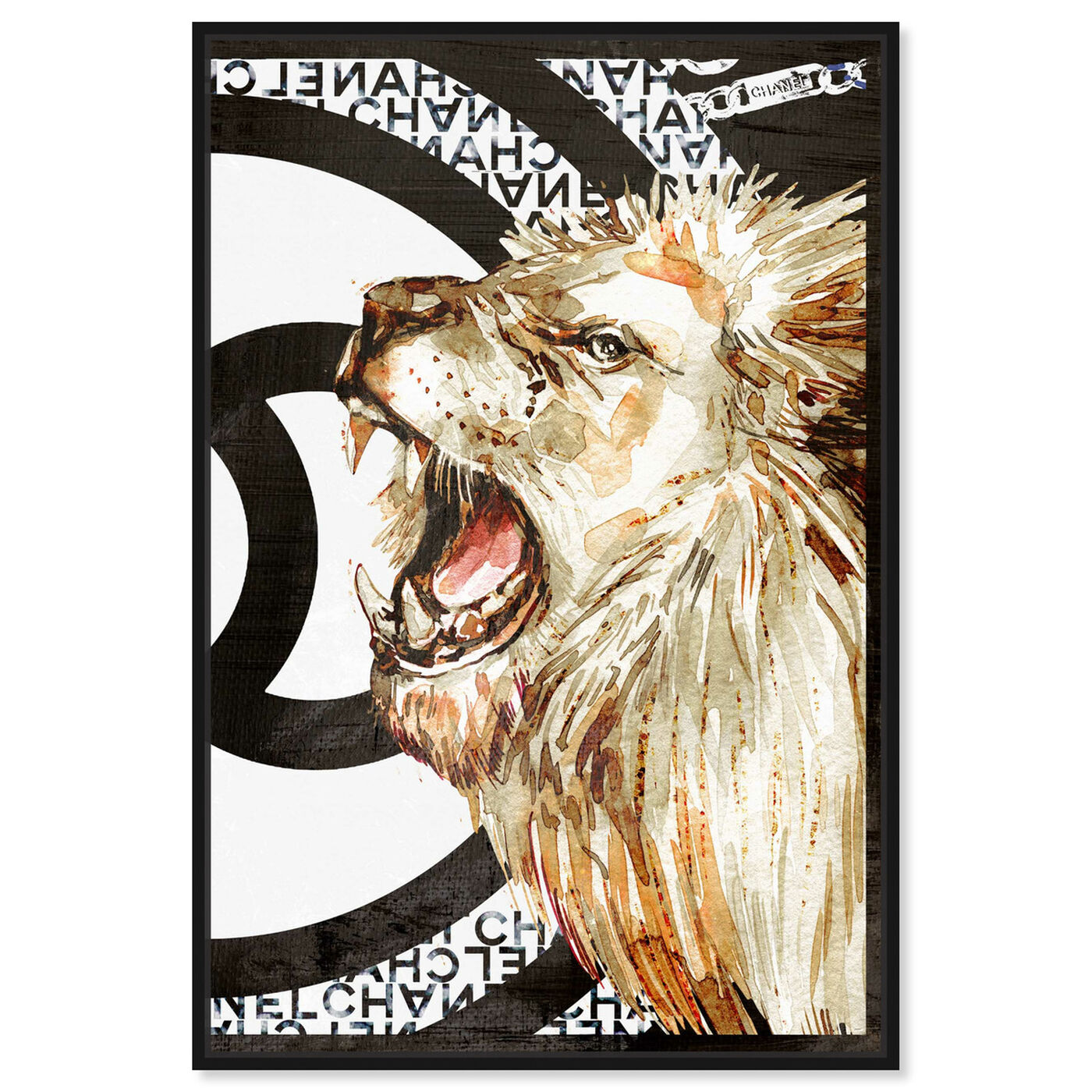 Front view of Lion Effect Symbol II featuring fashion and glam and lifestyle art.