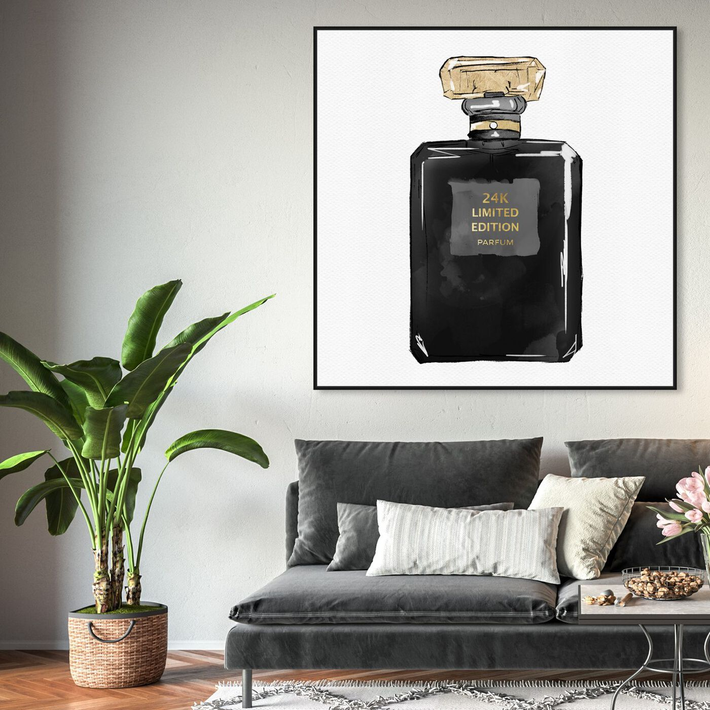 Hanging view of Dark Perfume Gold featuring fashion and glam and perfumes art.