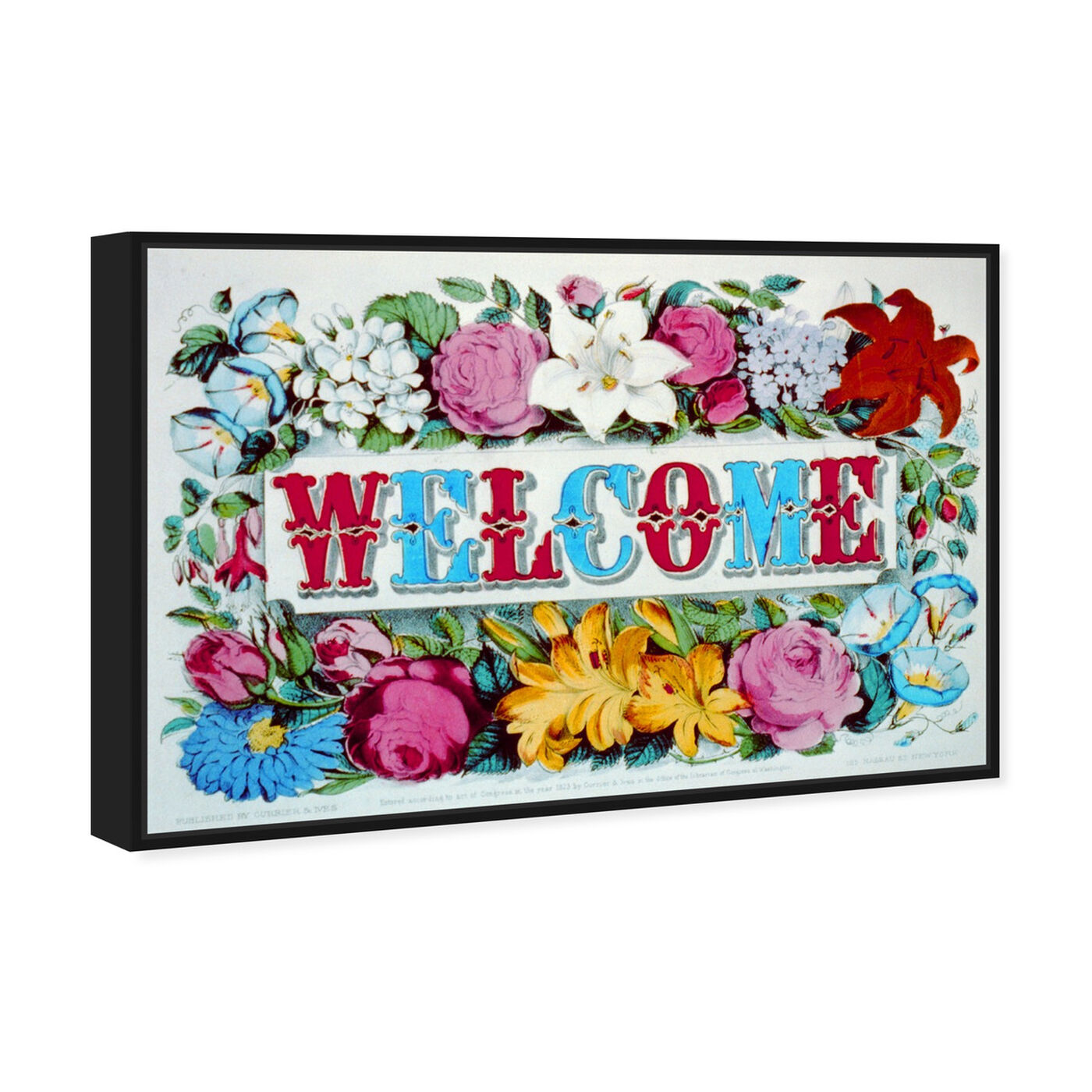 Angled view of Welcome featuring typography and quotes and family quotes and sayings art.