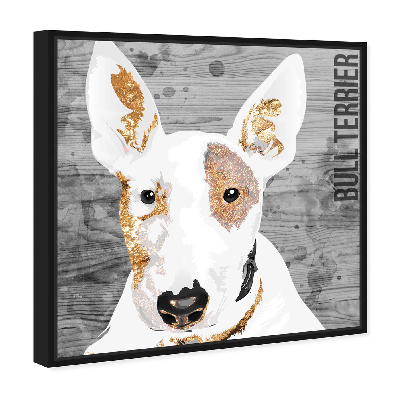 Angled view of Love My Bull Terrier featuring animals and dogs and puppies art.