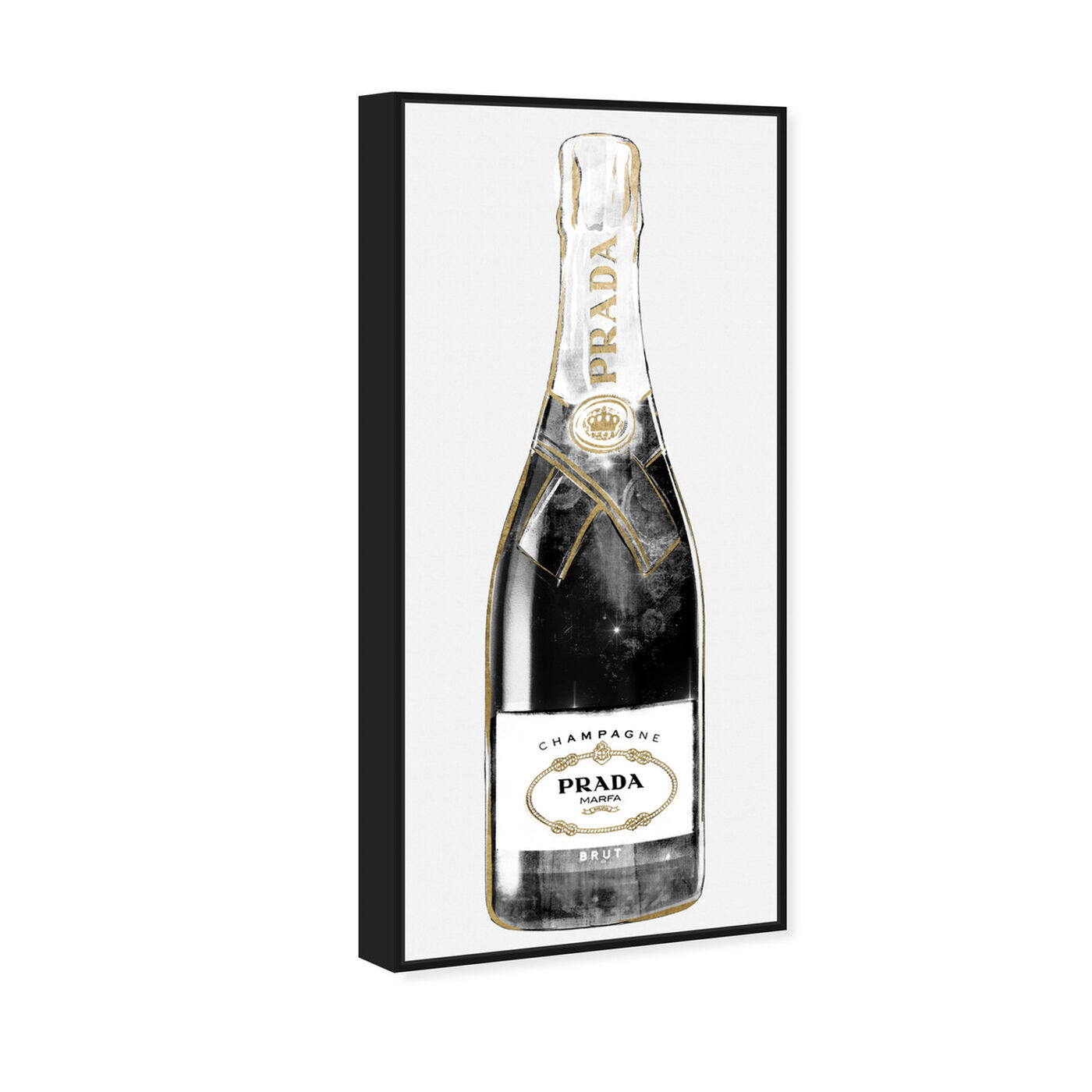 Angled view of Trendy Milan Champagne Tall featuring fashion and glam and lifestyle art.