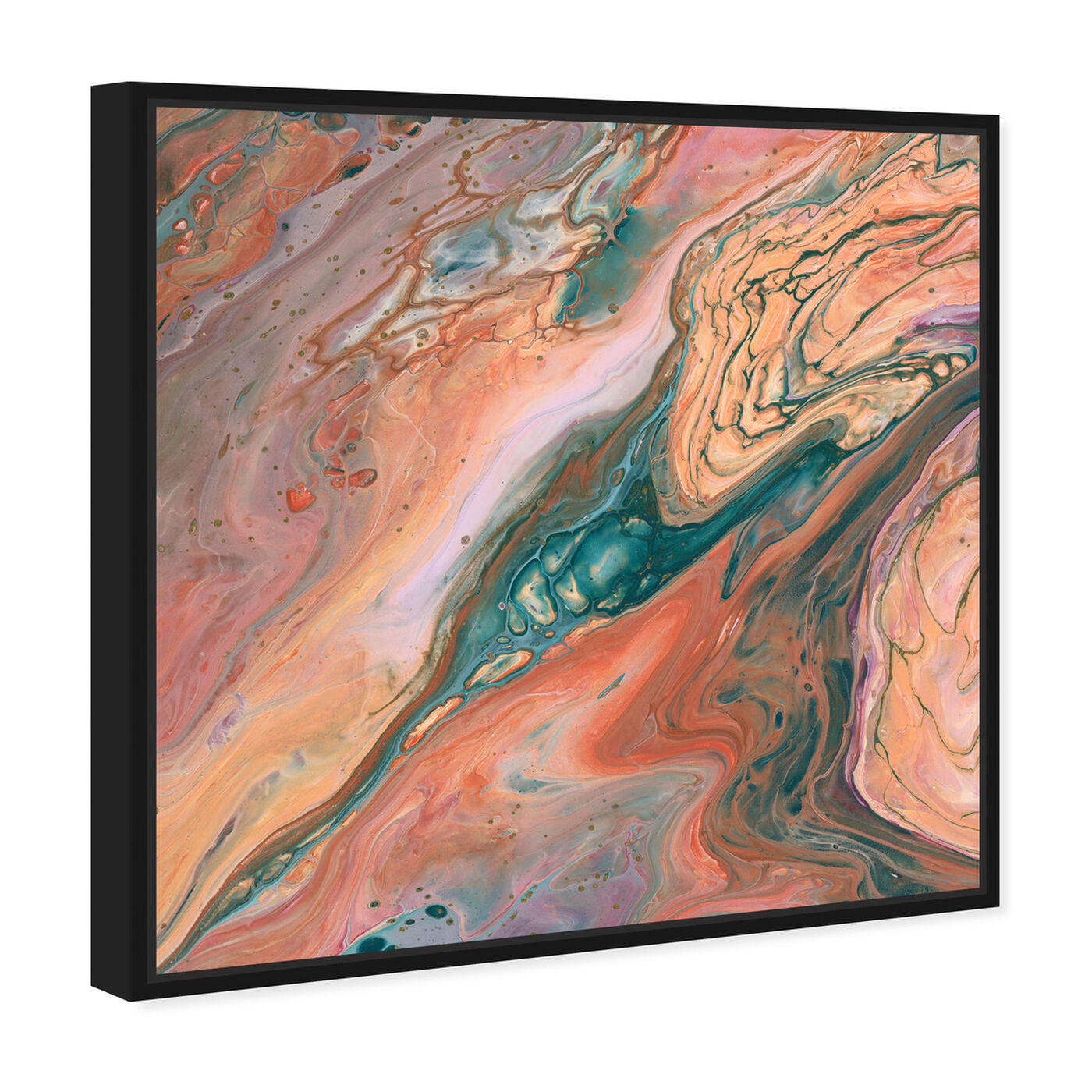 Angled view of Orange Surreal featuring abstract and paint art.