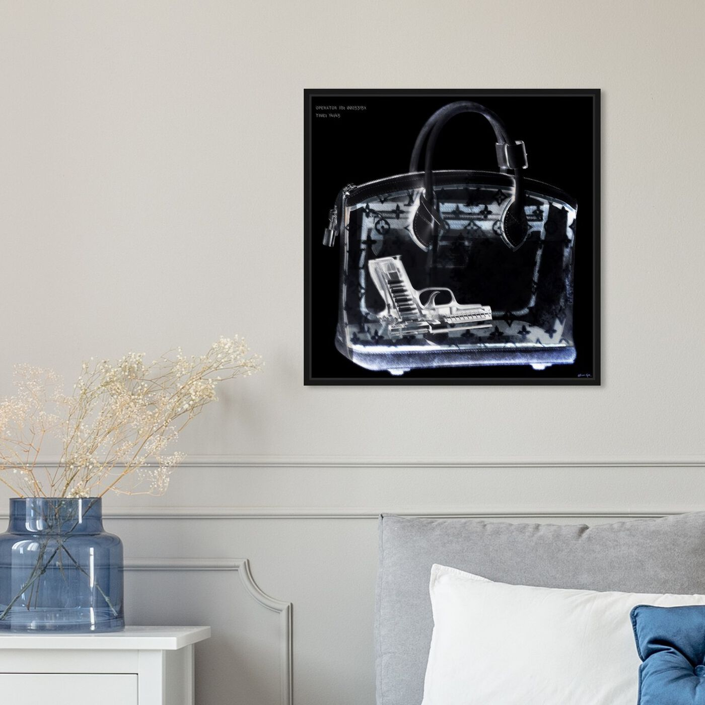 Hanging view of Couture X Ray featuring fashion and glam and handbags art.
