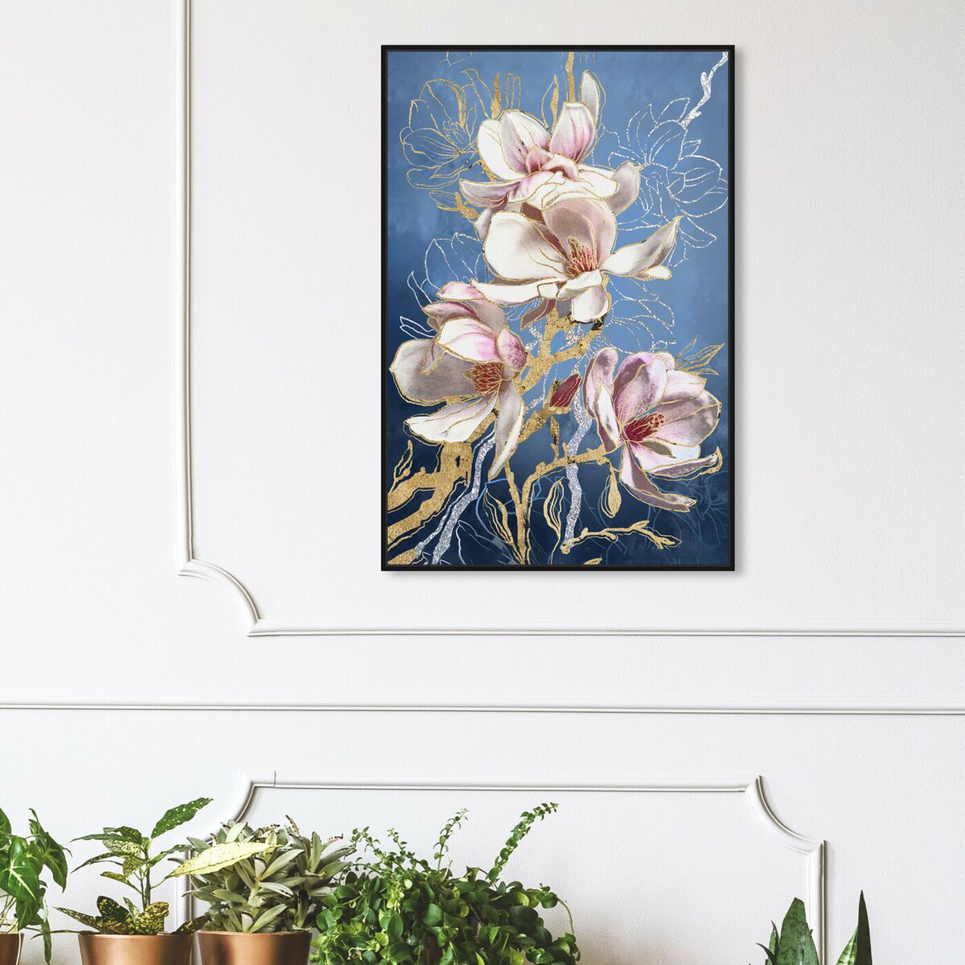 Hanging view of Modern Van Gogh featuring floral and botanical and florals art.