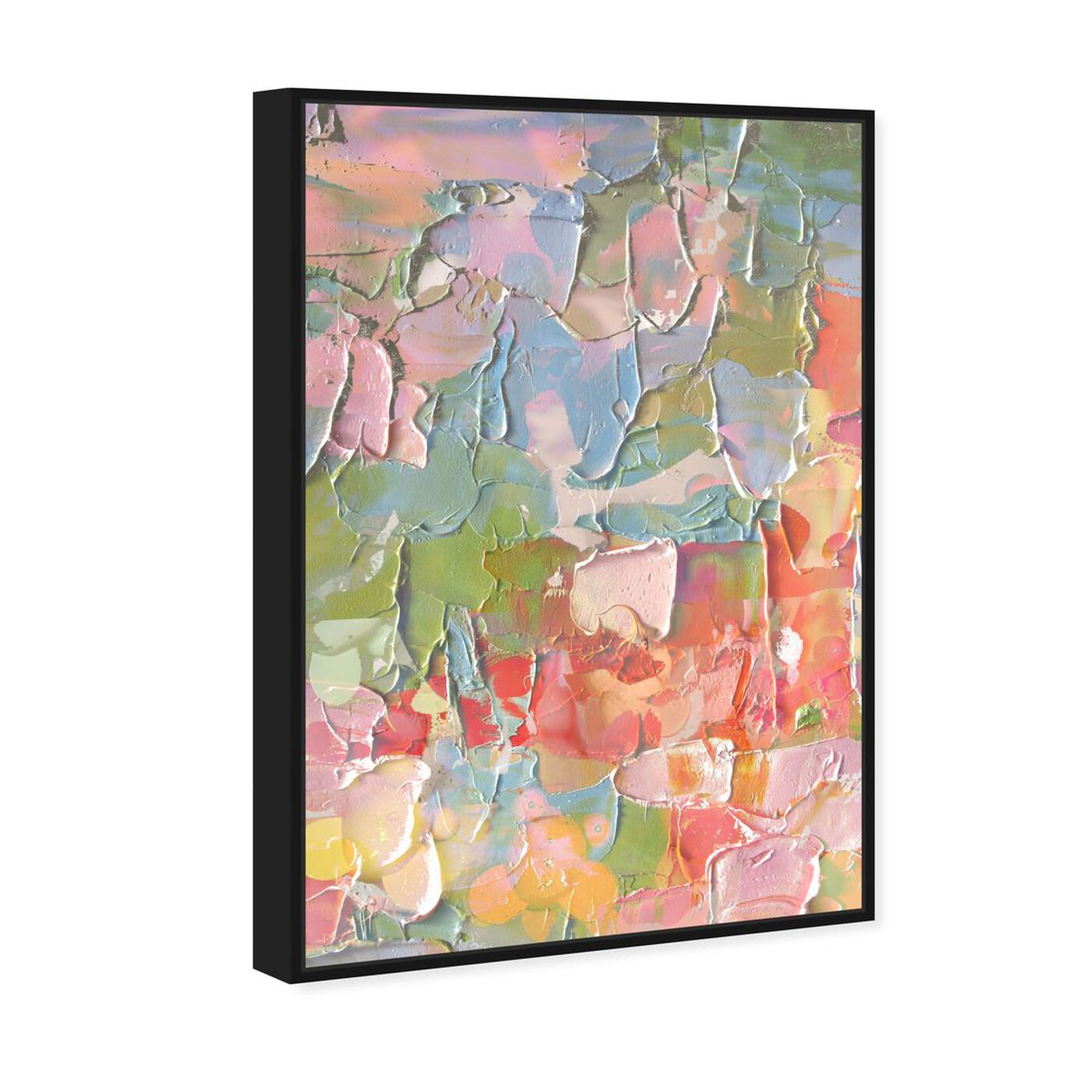 Angled view of I Feel Happy featuring abstract and textures art.