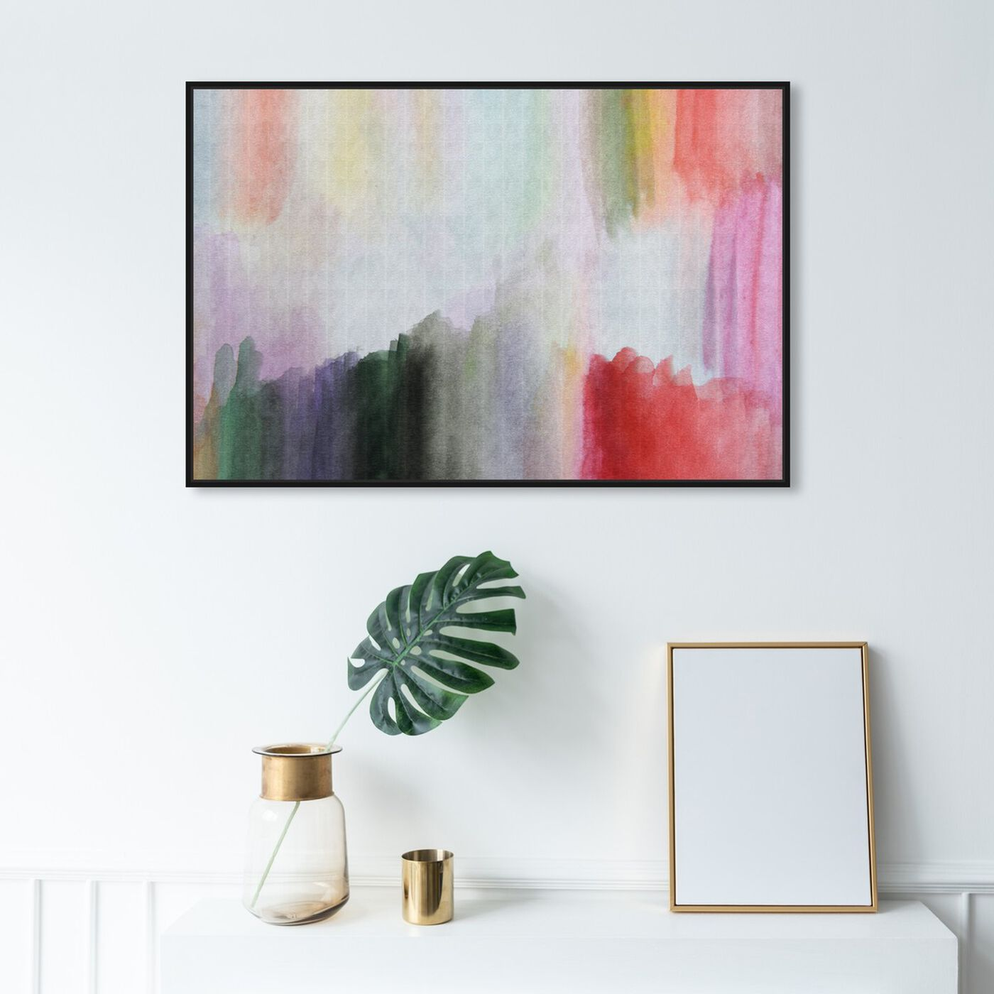 Hanging view of Anona featuring abstract and watercolor art.