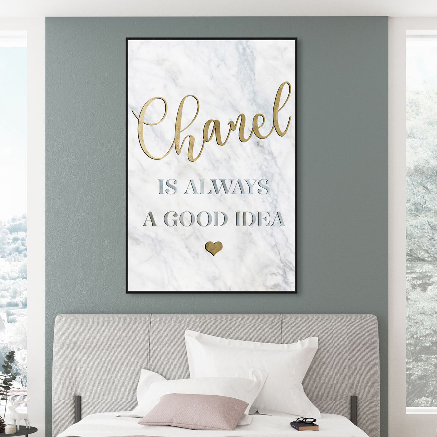 Hanging view of French is Always a Good Idea featuring typography and quotes and fashion quotes and sayings art.