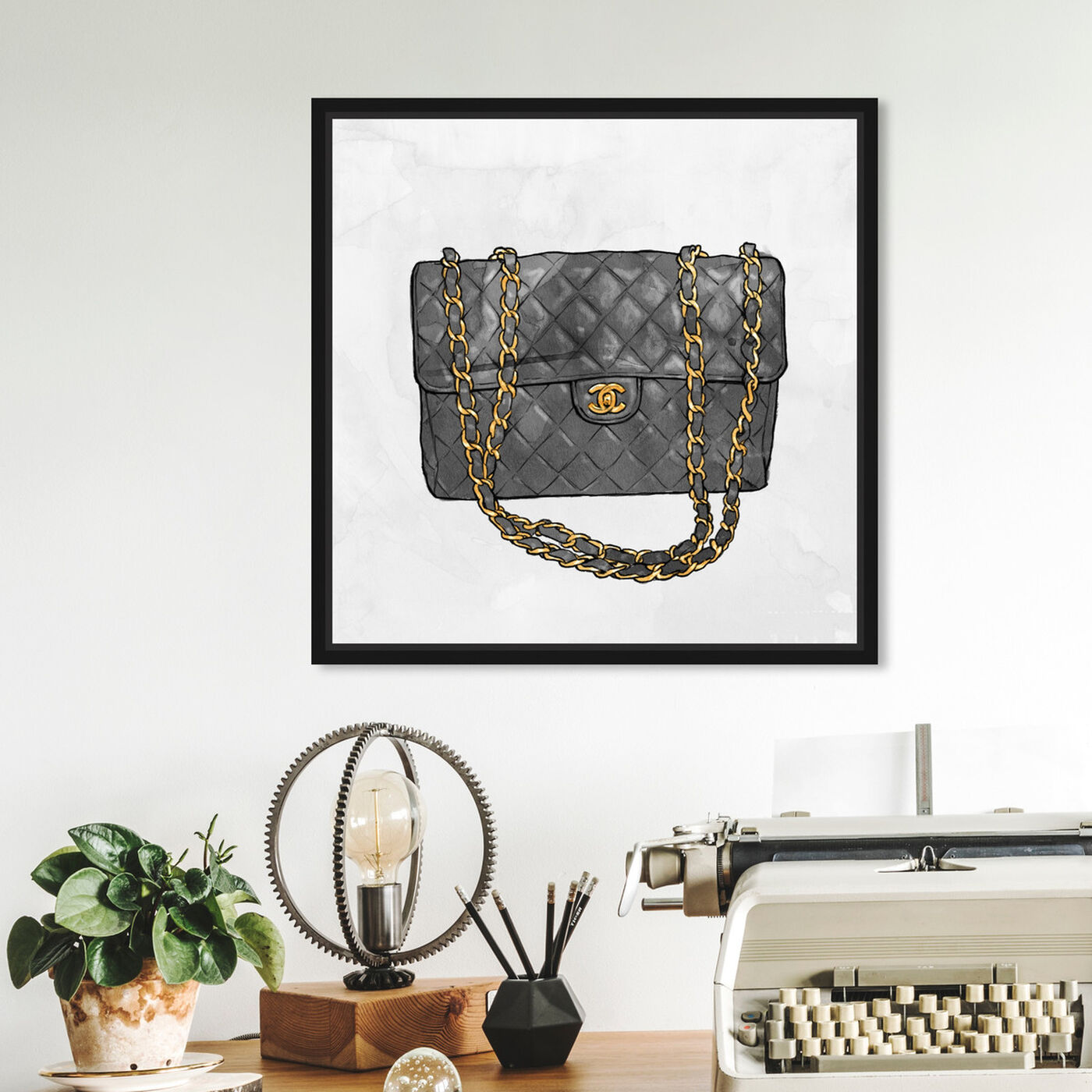 Hanging view of Everything But My bag featuring fashion and glam and handbags art.