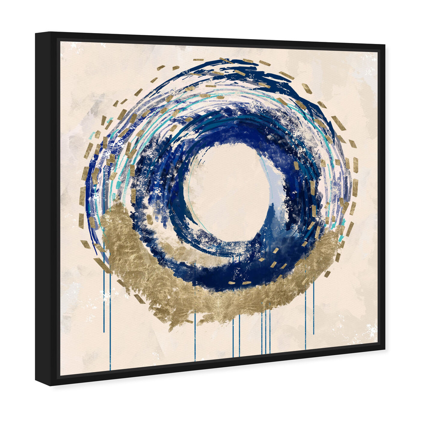 Angled view of Circular Movement featuring abstract and shapes art.