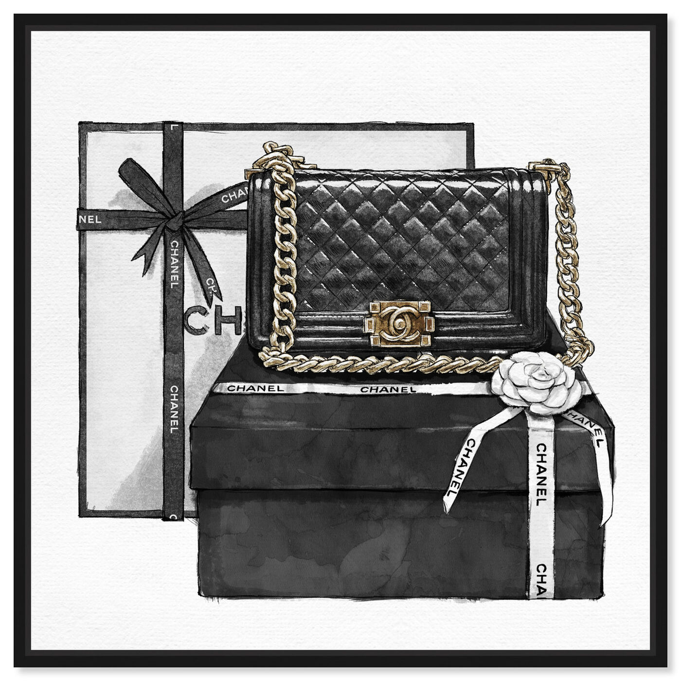 Front view of Gifted Beauty featuring fashion and glam and handbags art.