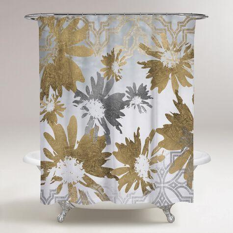 Golden Garden Shower Curtain