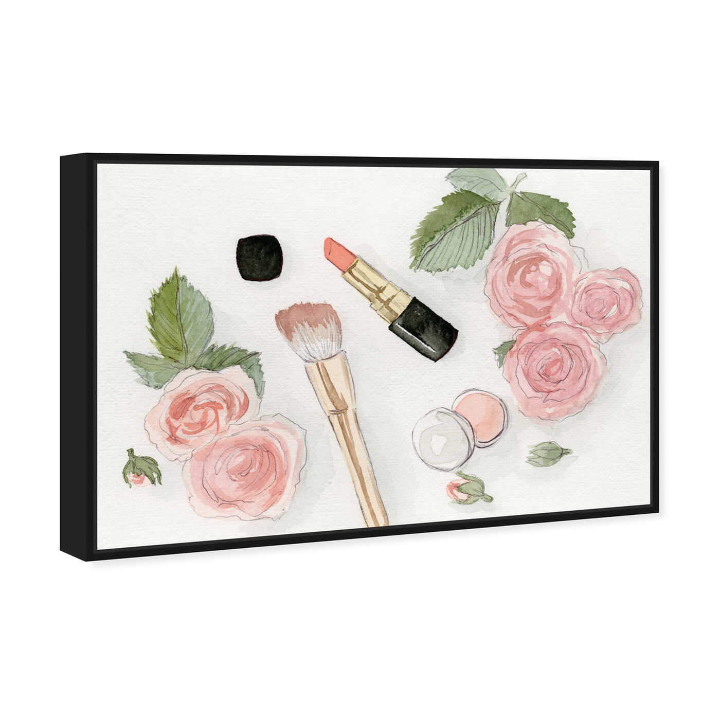Angled view of Blush Dream featuring floral and botanical and florals art.