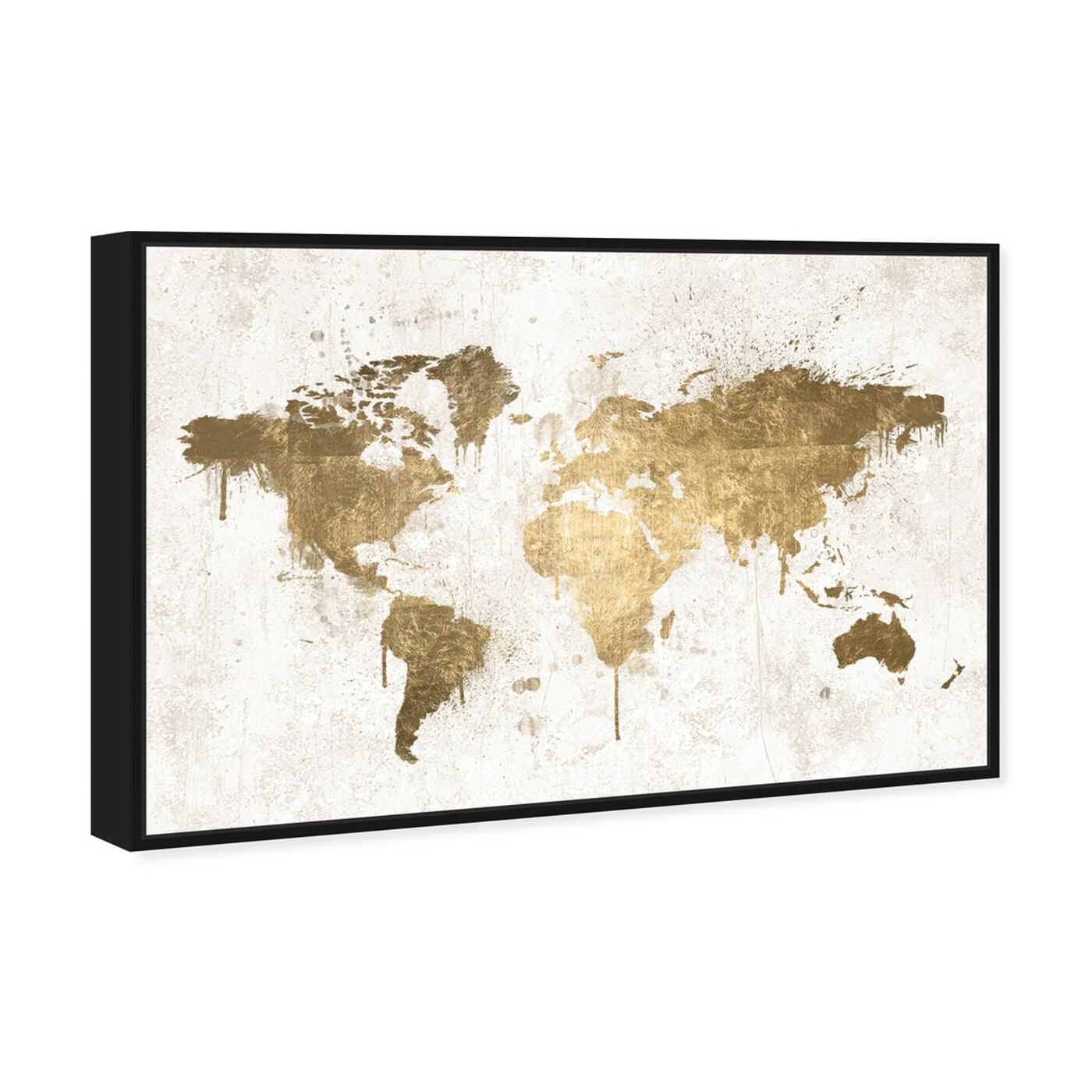 Angled view of Mapamundi White Gold featuring maps and flags and world maps art.