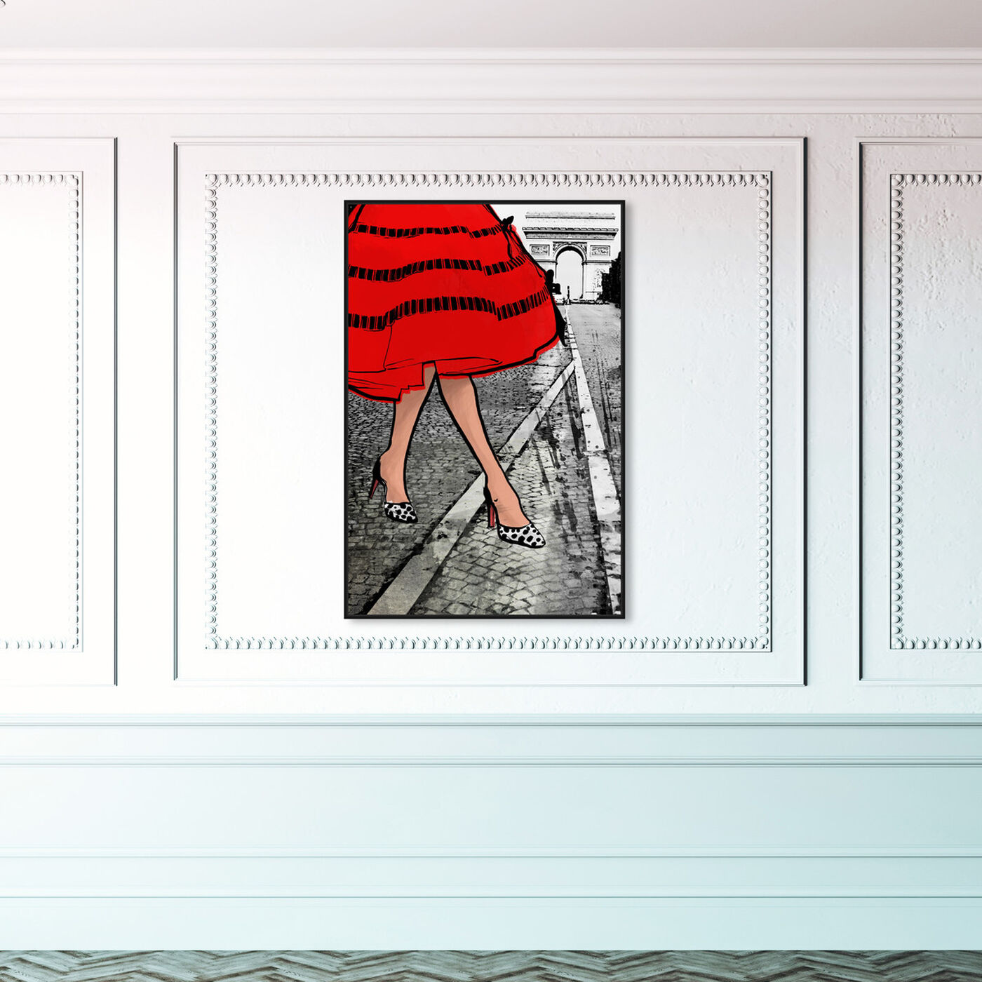 Hanging view of Autumn in Paris featuring fashion and glam and outfits art.