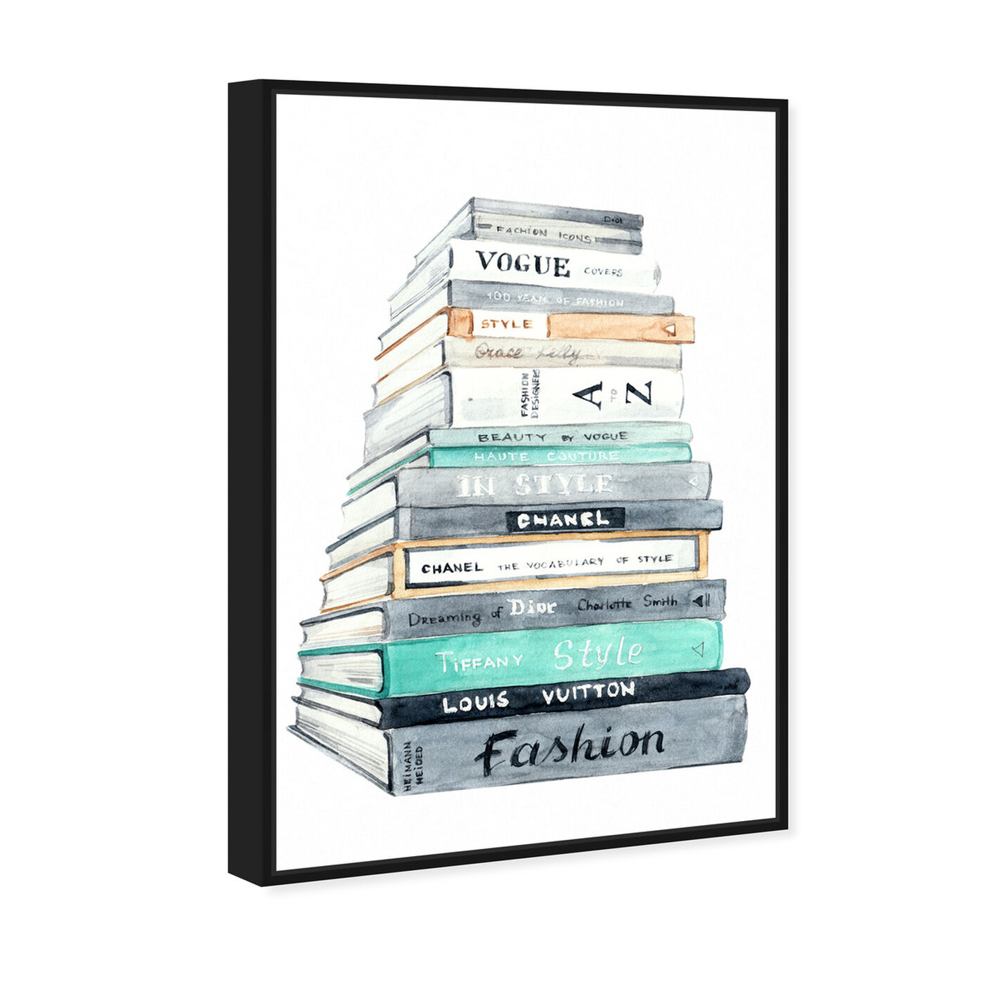 Angled view of Fashion Book Perspective featuring fashion and glam and books art.