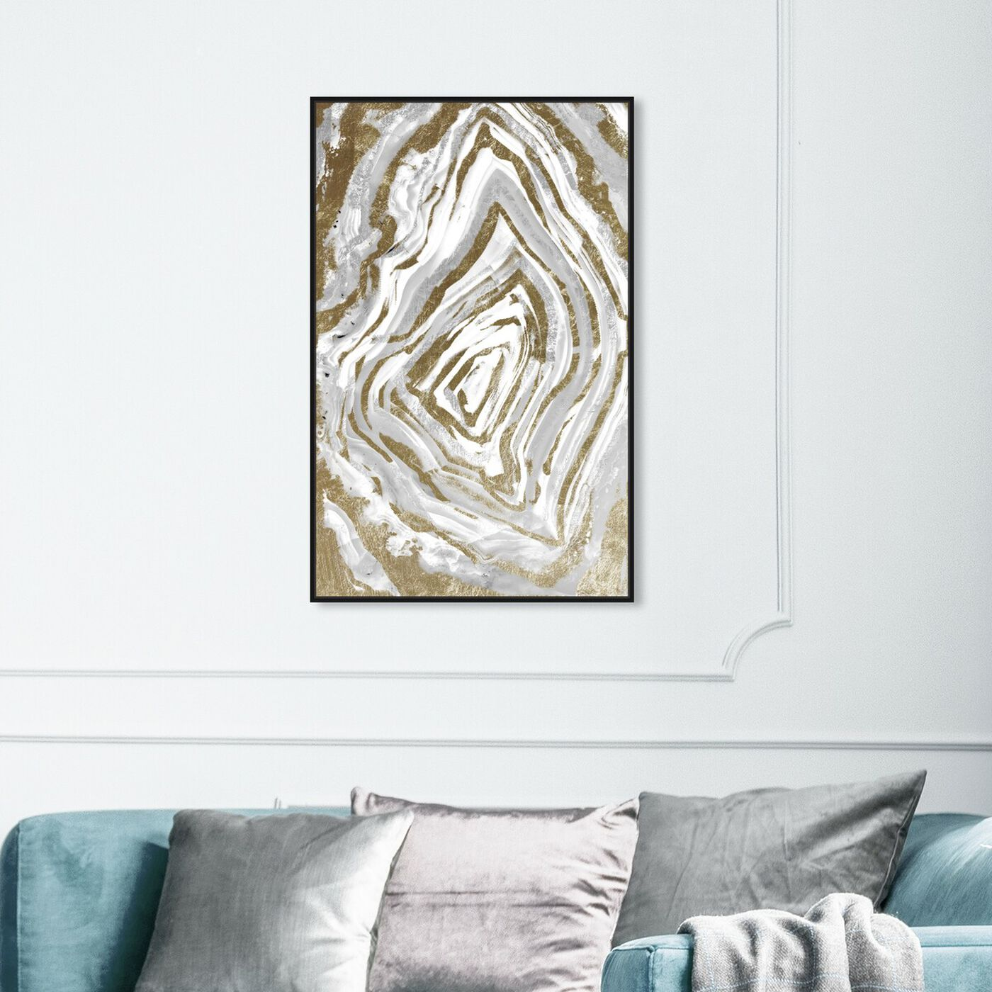Hanging view of RawGeo Adore Clair featuring abstract and crystals art.