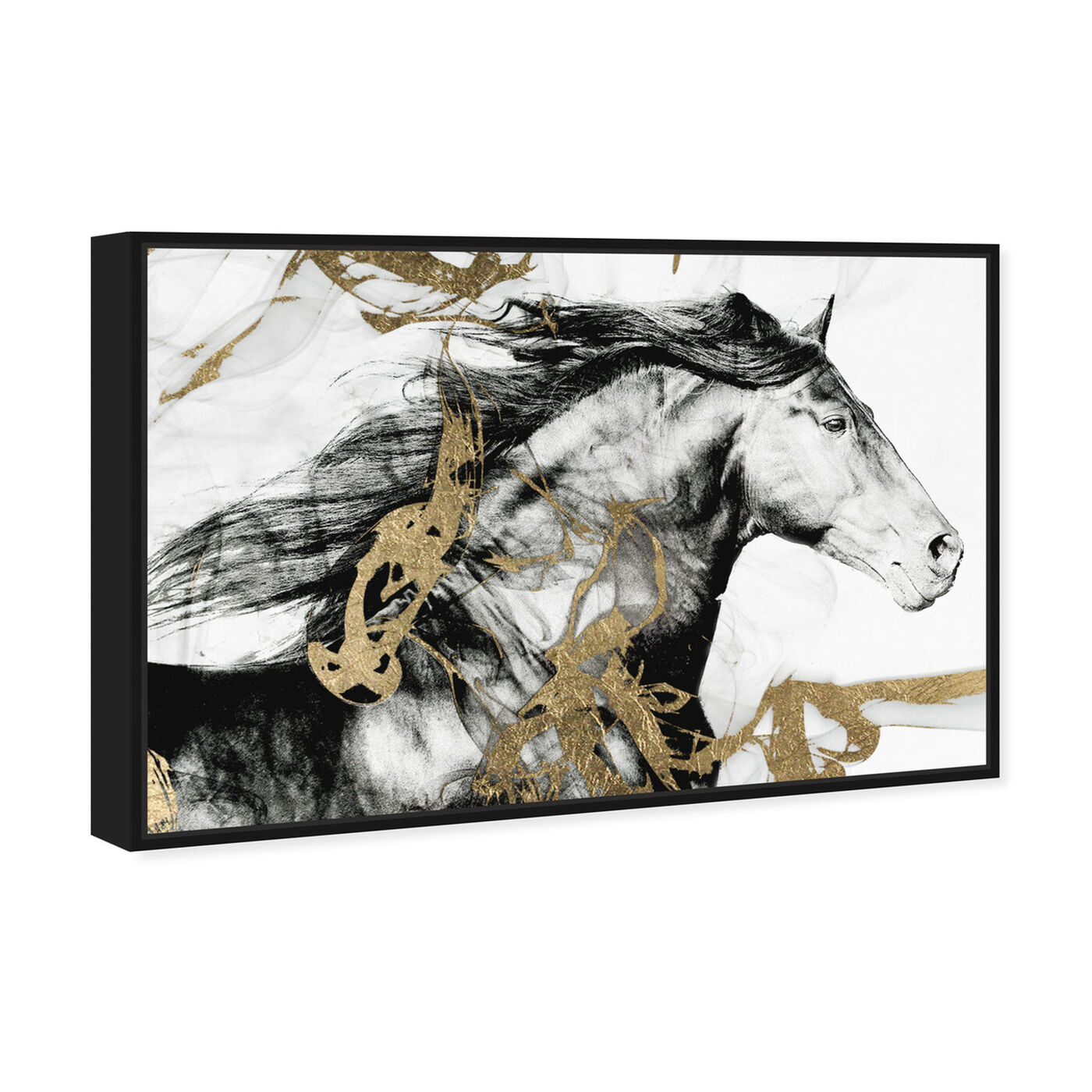 Angled view of Gold and Black Beauty featuring animals and farm animals art.