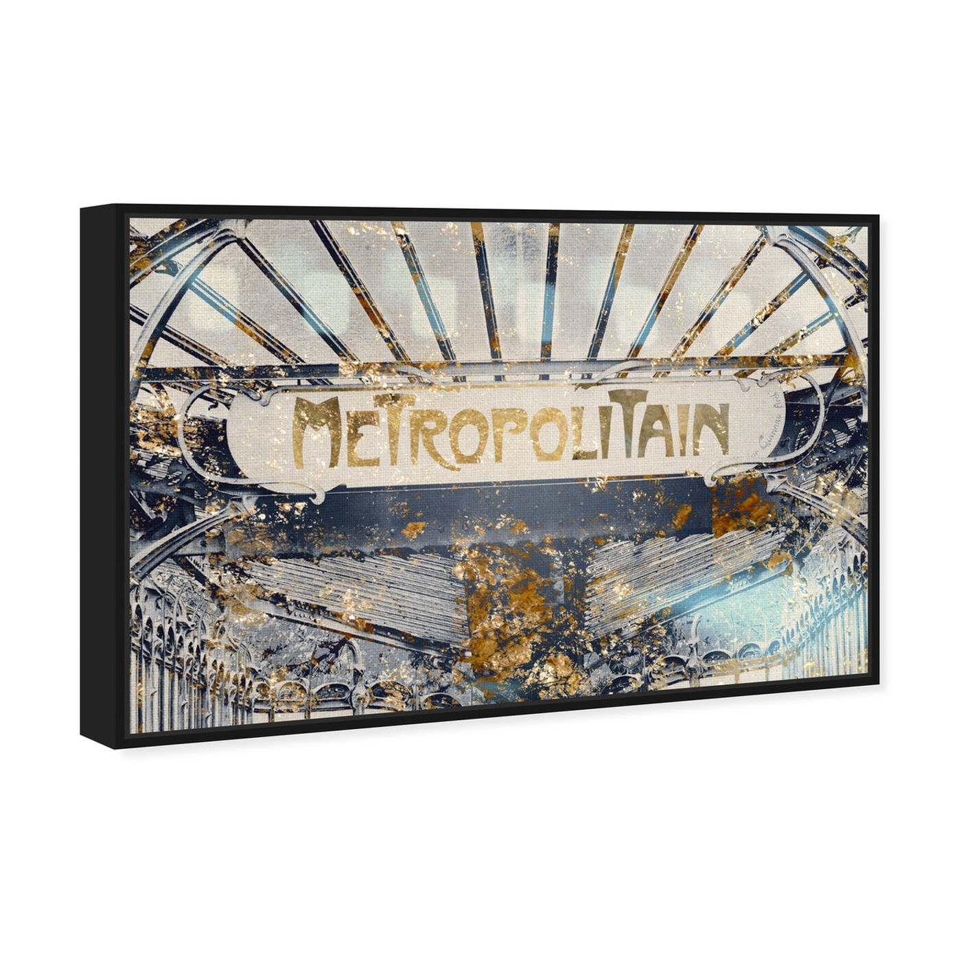 Angled view of Metropolitain Gold featuring architecture and buildings and united states buildings art.