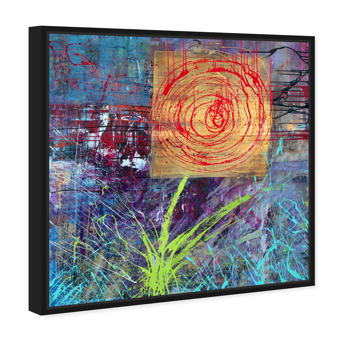 Angled view of Sai - Urban Blossom 1IC1323 featuring abstract and flowers art.