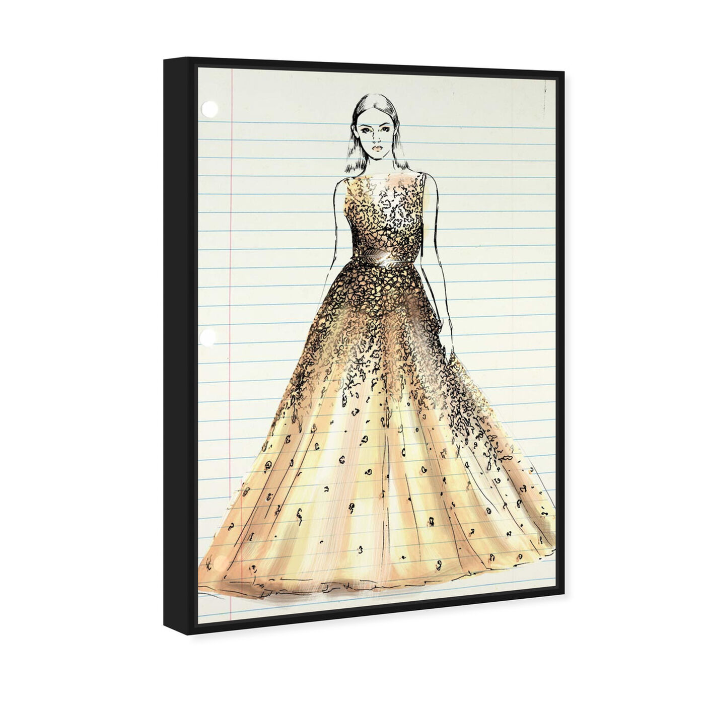 Angled view of Fashion Letter featuring fashion and glam and dress art.