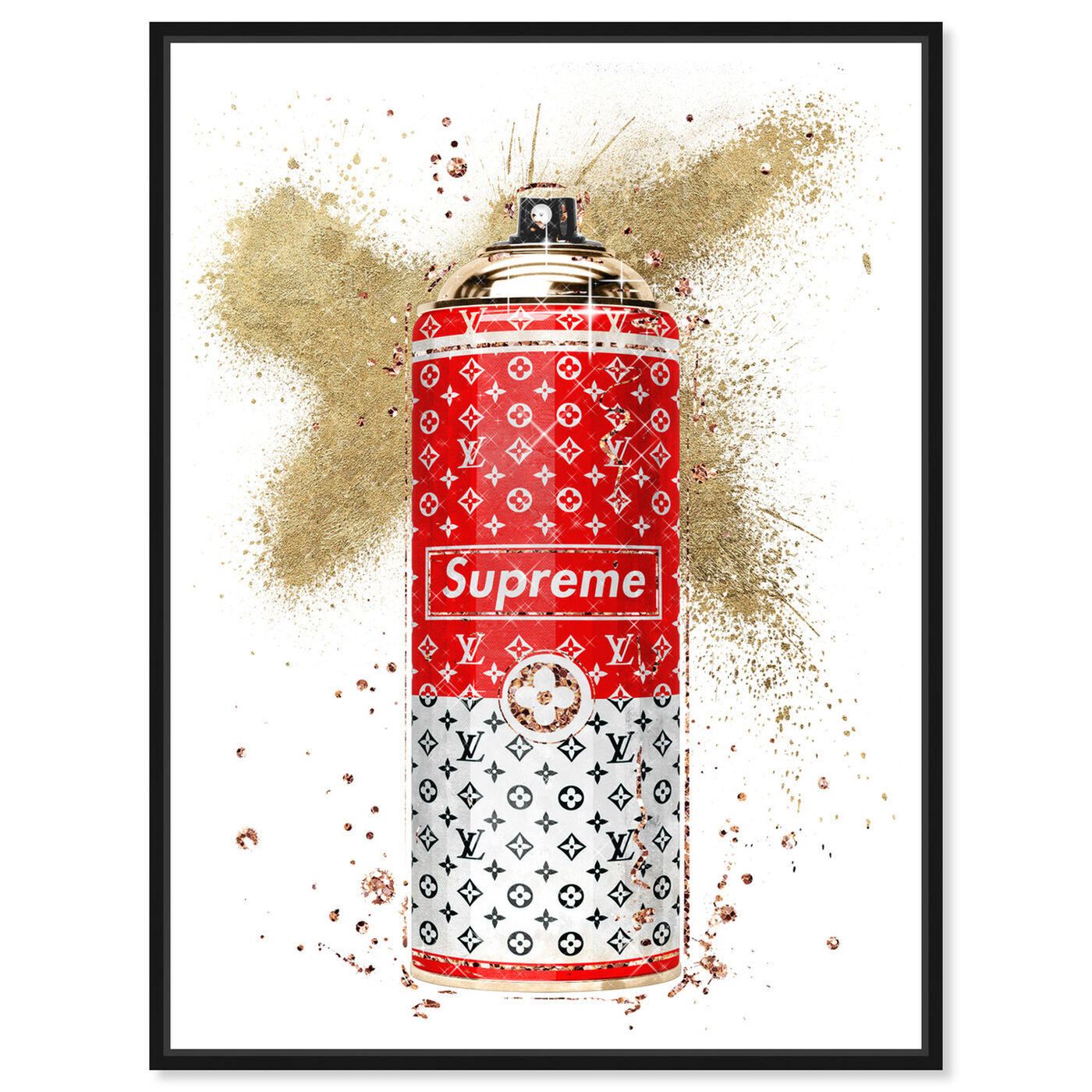 Front view of Glam Spray Red featuring fashion and glam and lifestyle art.