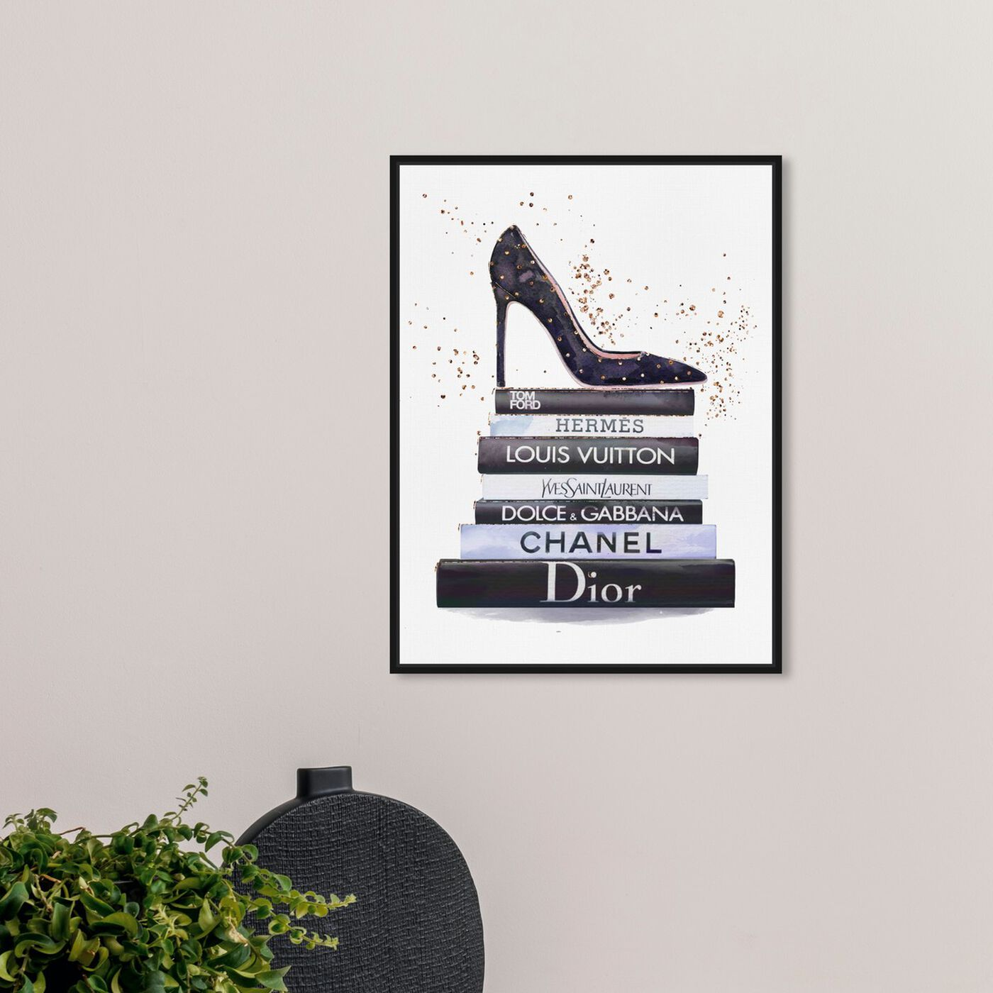 Hanging view of Glam Shoe at daytime featuring fashion and glam and shoes art.