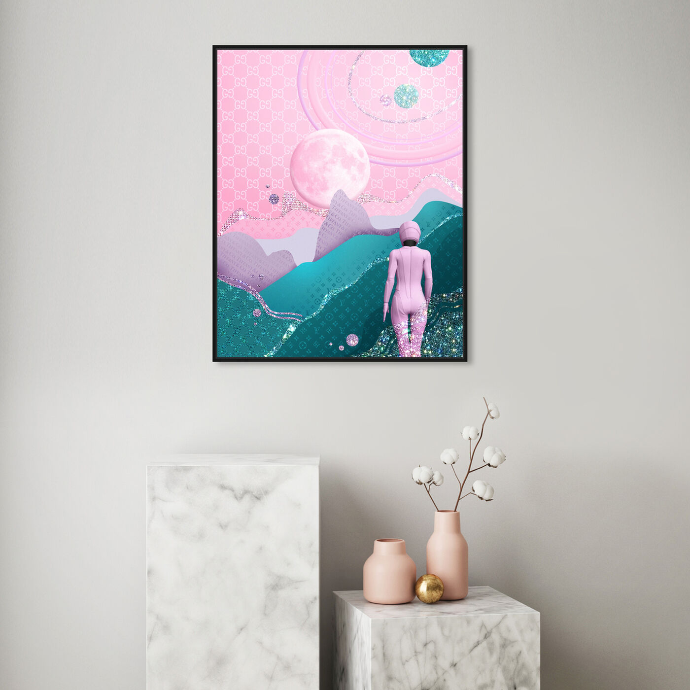 Hanging view of Lead me into the light featuring nature and landscape and skyscapes art.