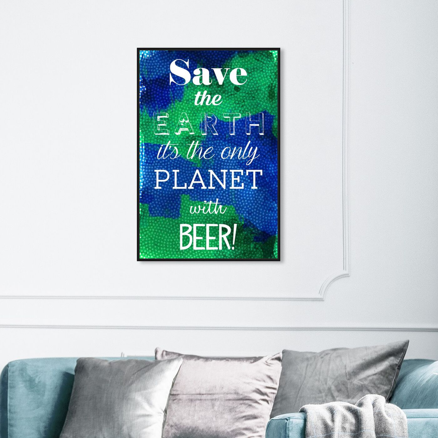 Hanging view of Beer Planet featuring drinks and spirits and beer art.