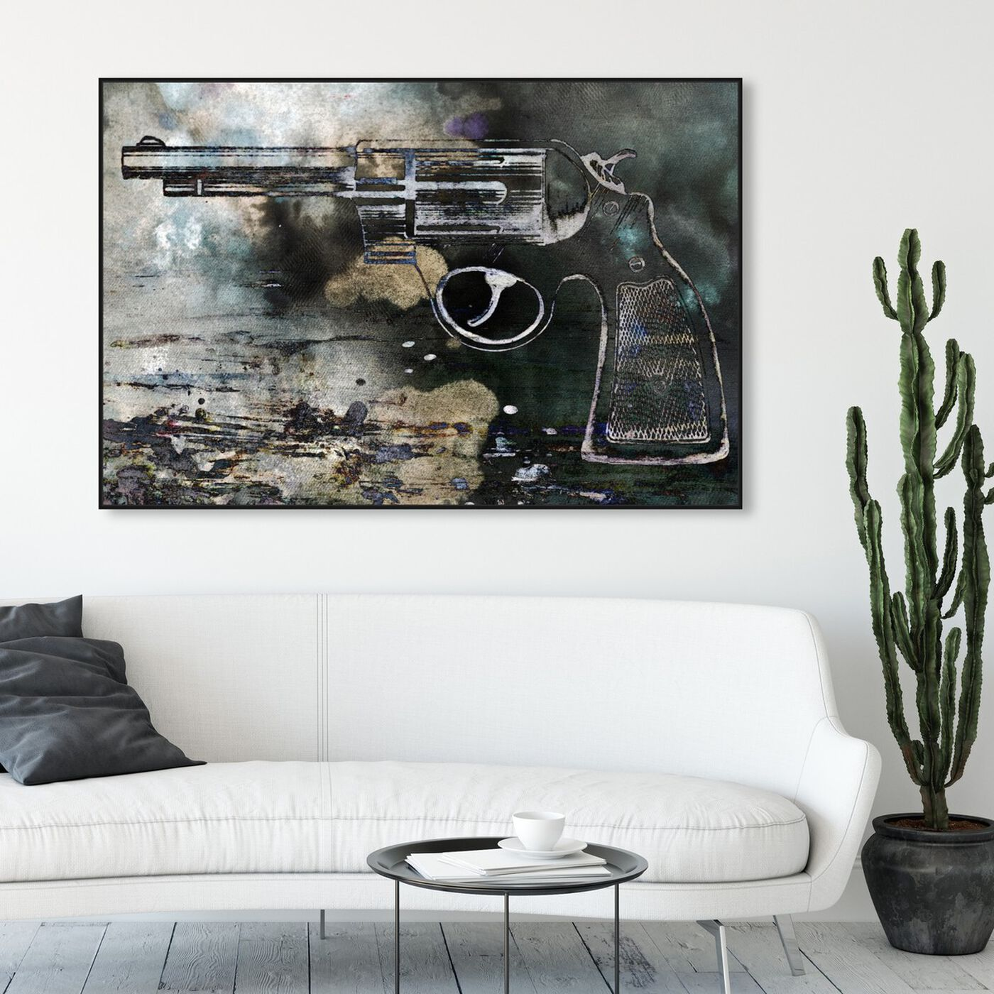 Hanging view of Magnum featuring entertainment and hobbies and machine guns art.