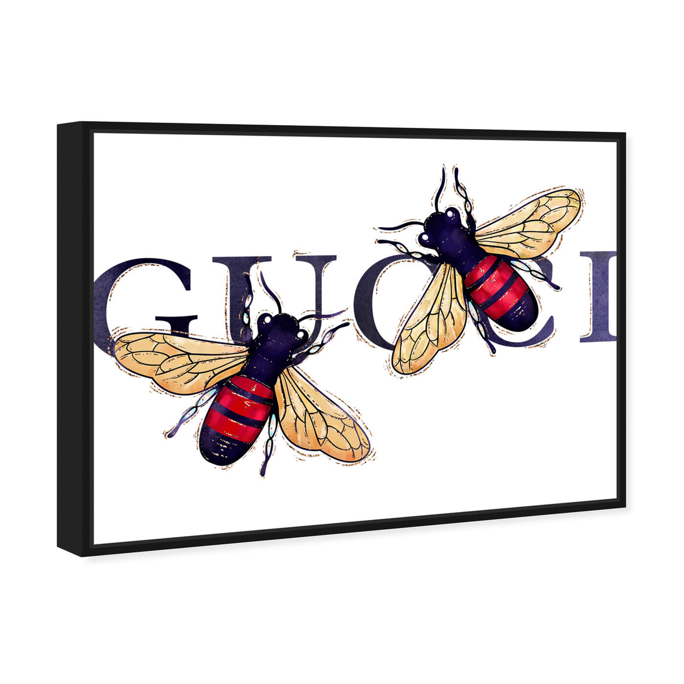 Angled view of Stylish Bumble Bee Patch featuring fashion and glam and fashion art.