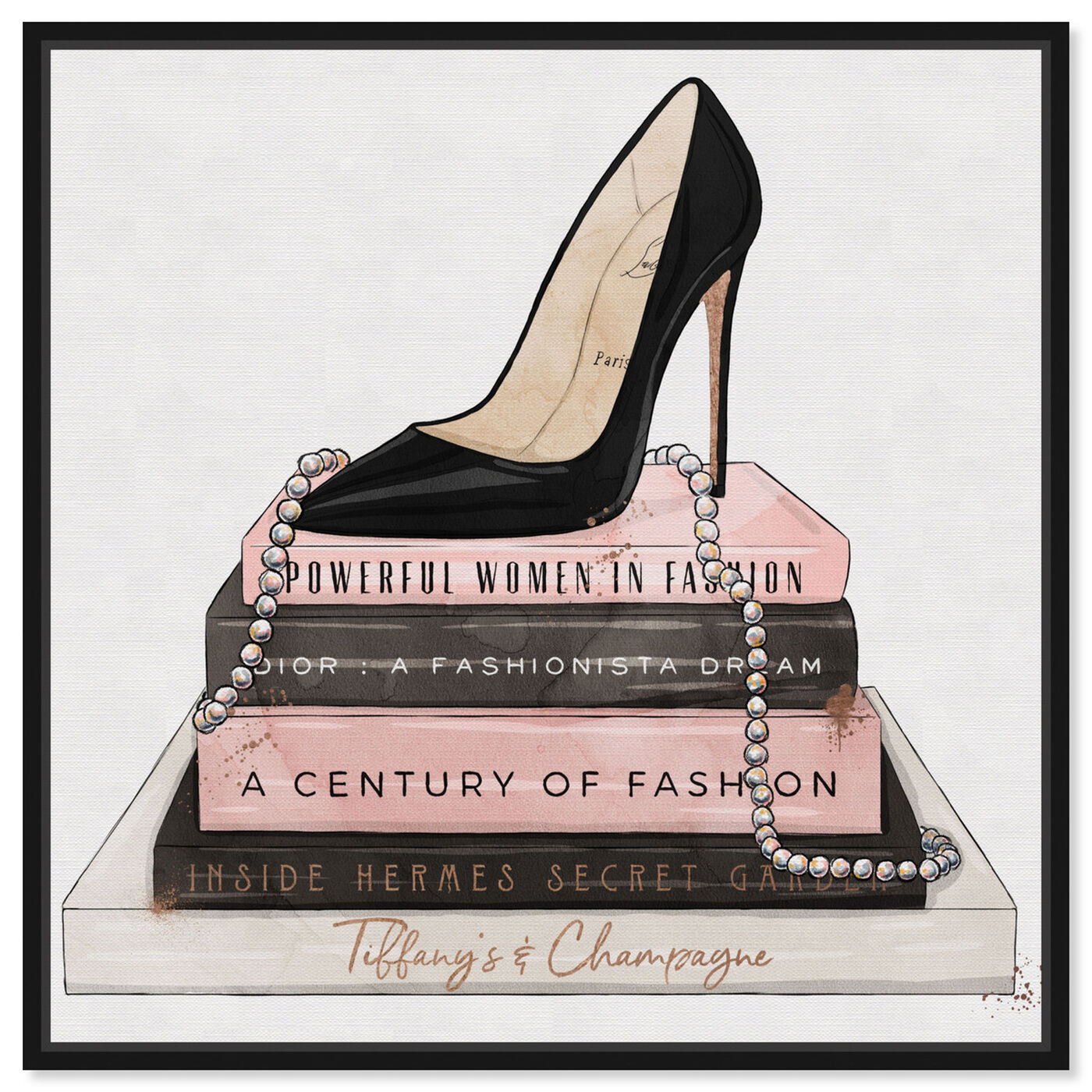 Front view of Classic Stiletto and High Fashion Books featuring fashion and glam and shoes art.
