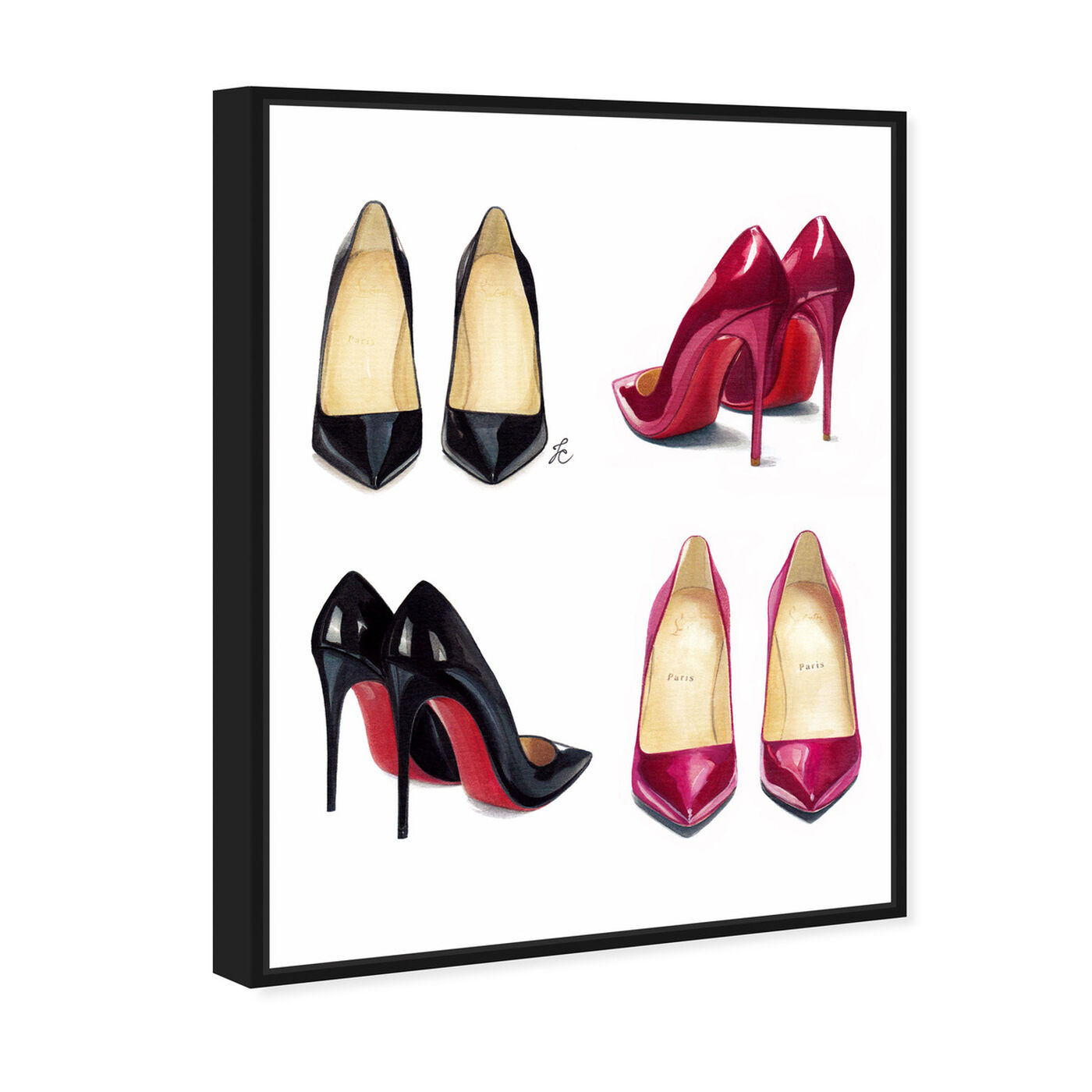 Angled view of Doll Memories - My Shoe Armoire featuring fashion and glam and shoes art.