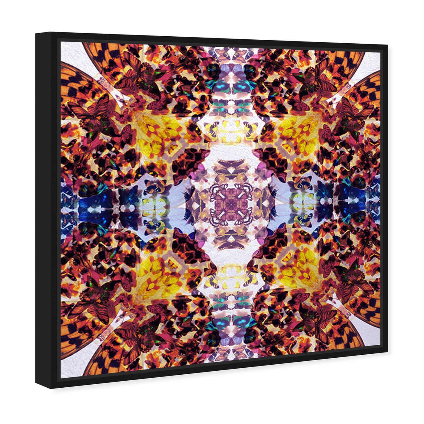 Angled view of Tiger Winged featuring abstract and patterns art.