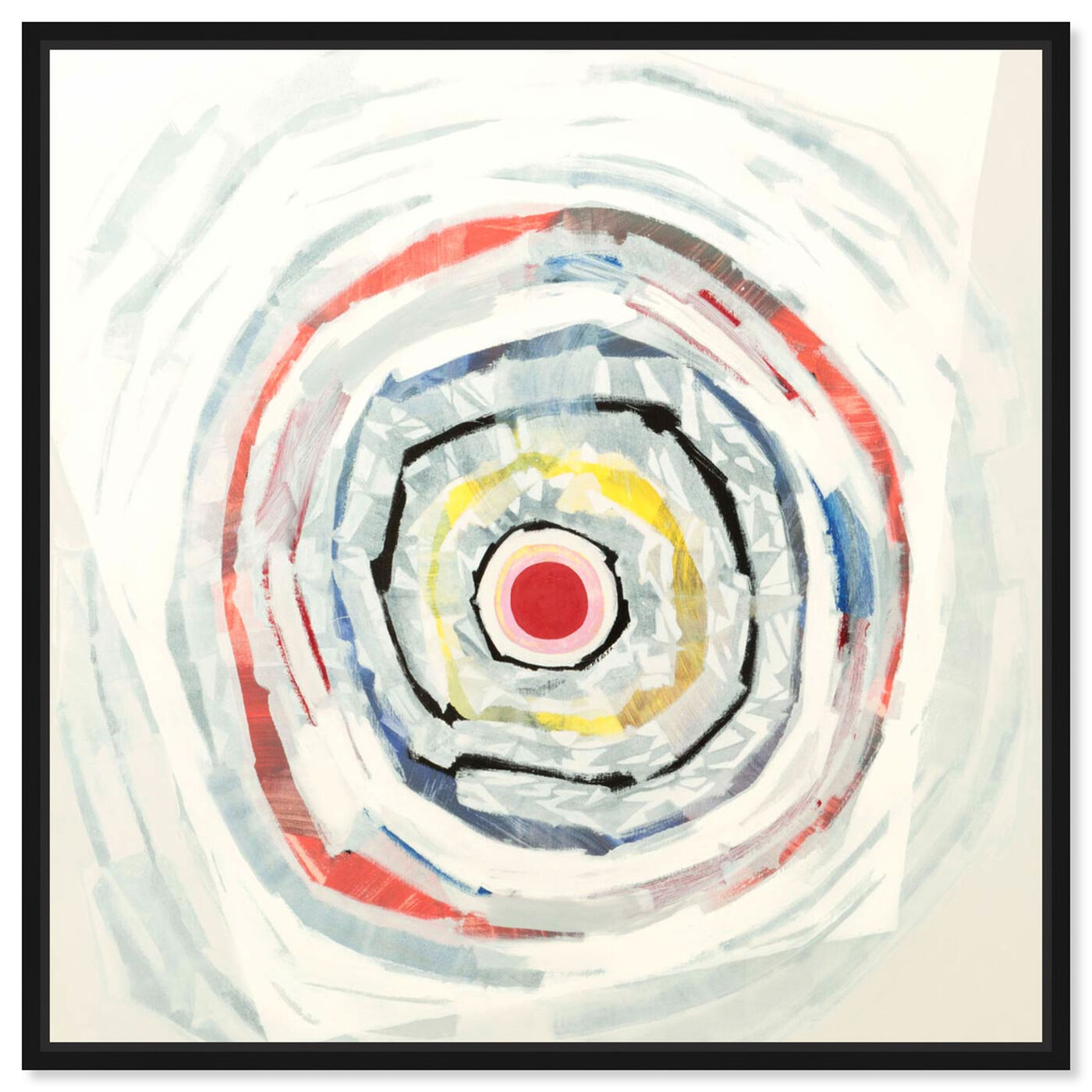 Front view of Sai - Pictis Spiralis Blanc 1NM1141 featuring abstract and patterns art.