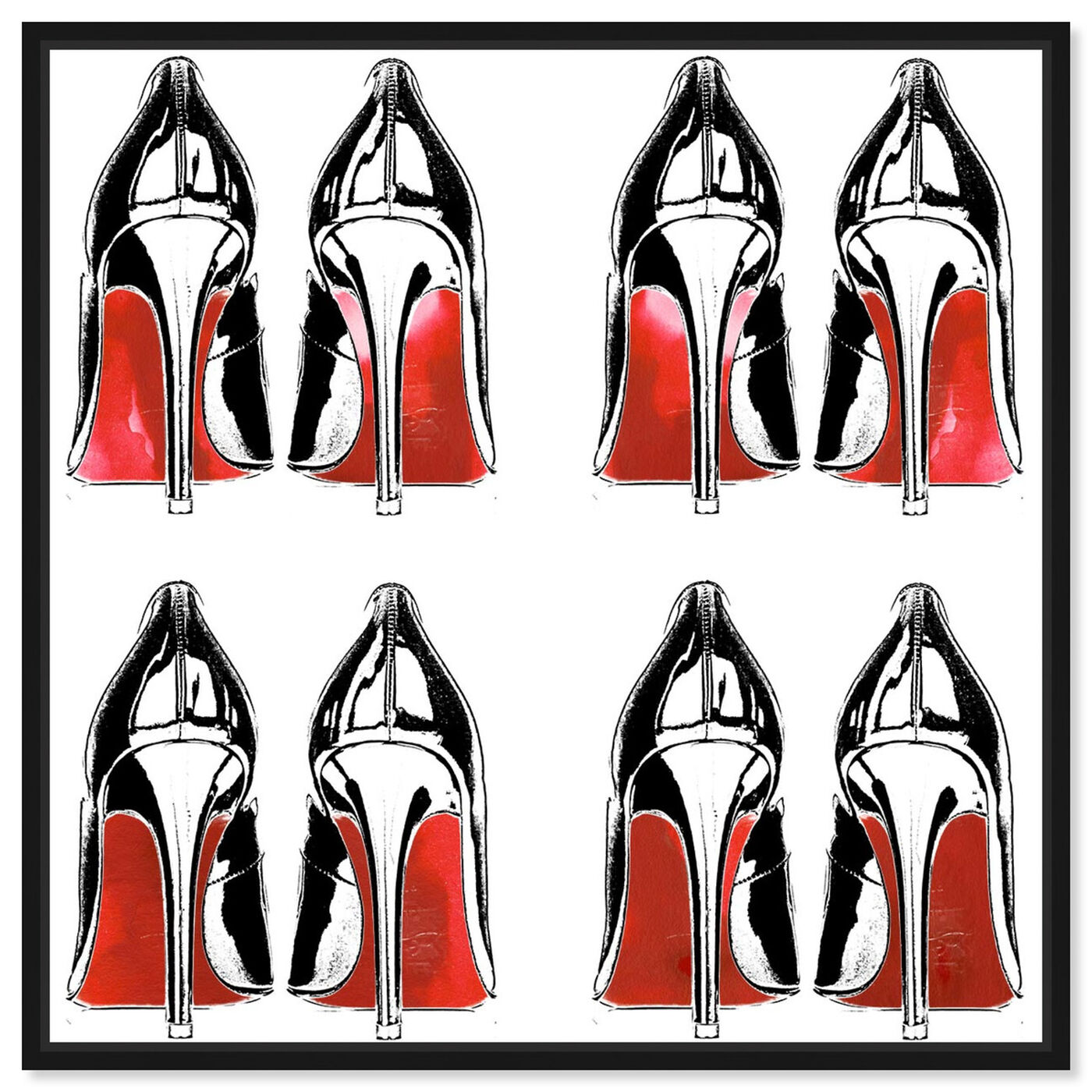 Front view of Stilettos II featuring fashion and glam and shoes art.