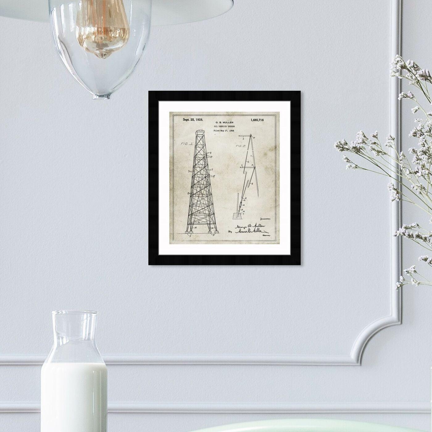 Hanging view of Oil-Derrick Anchor 1928 art.