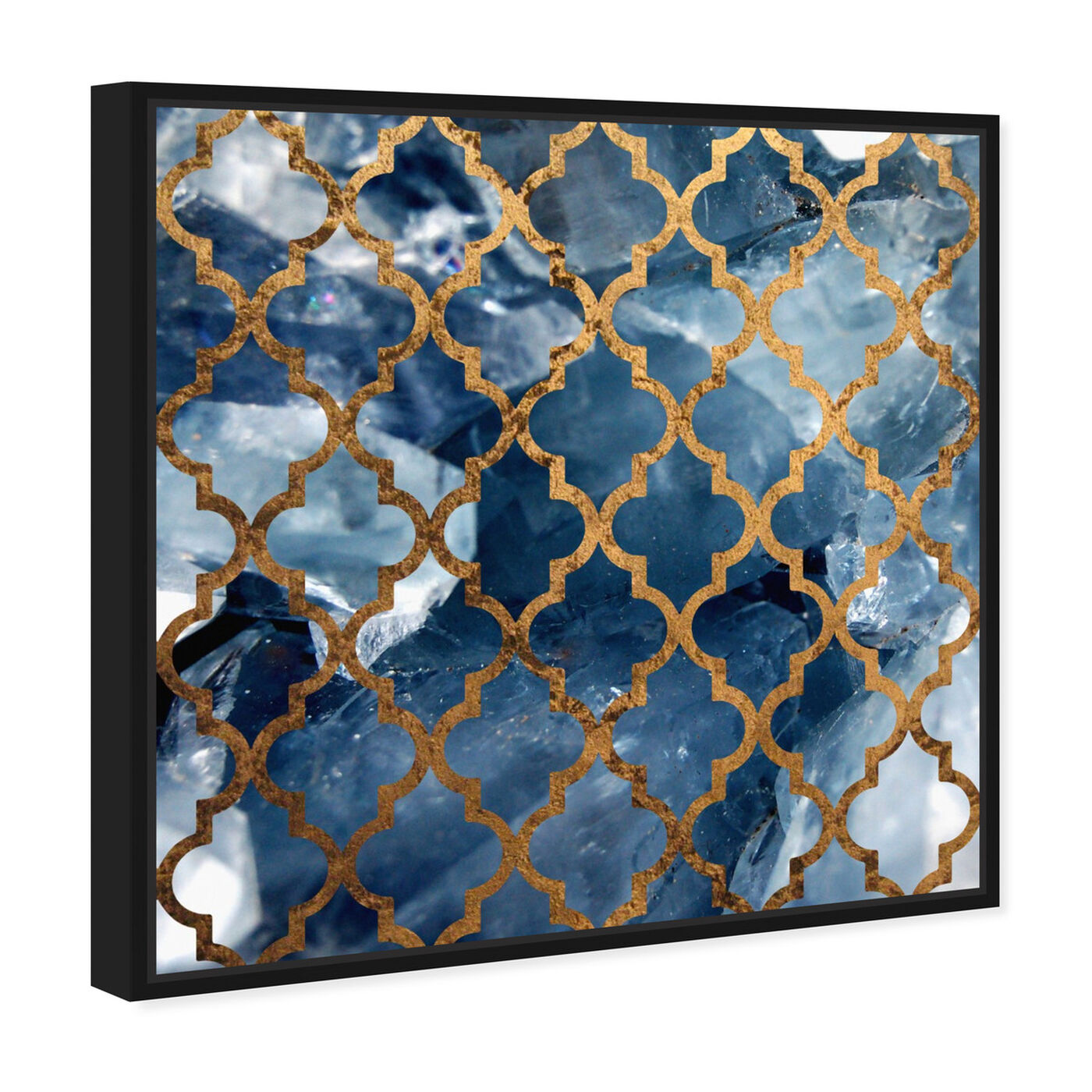 Angled view of Arabesque Bronze featuring abstract and patterns art.