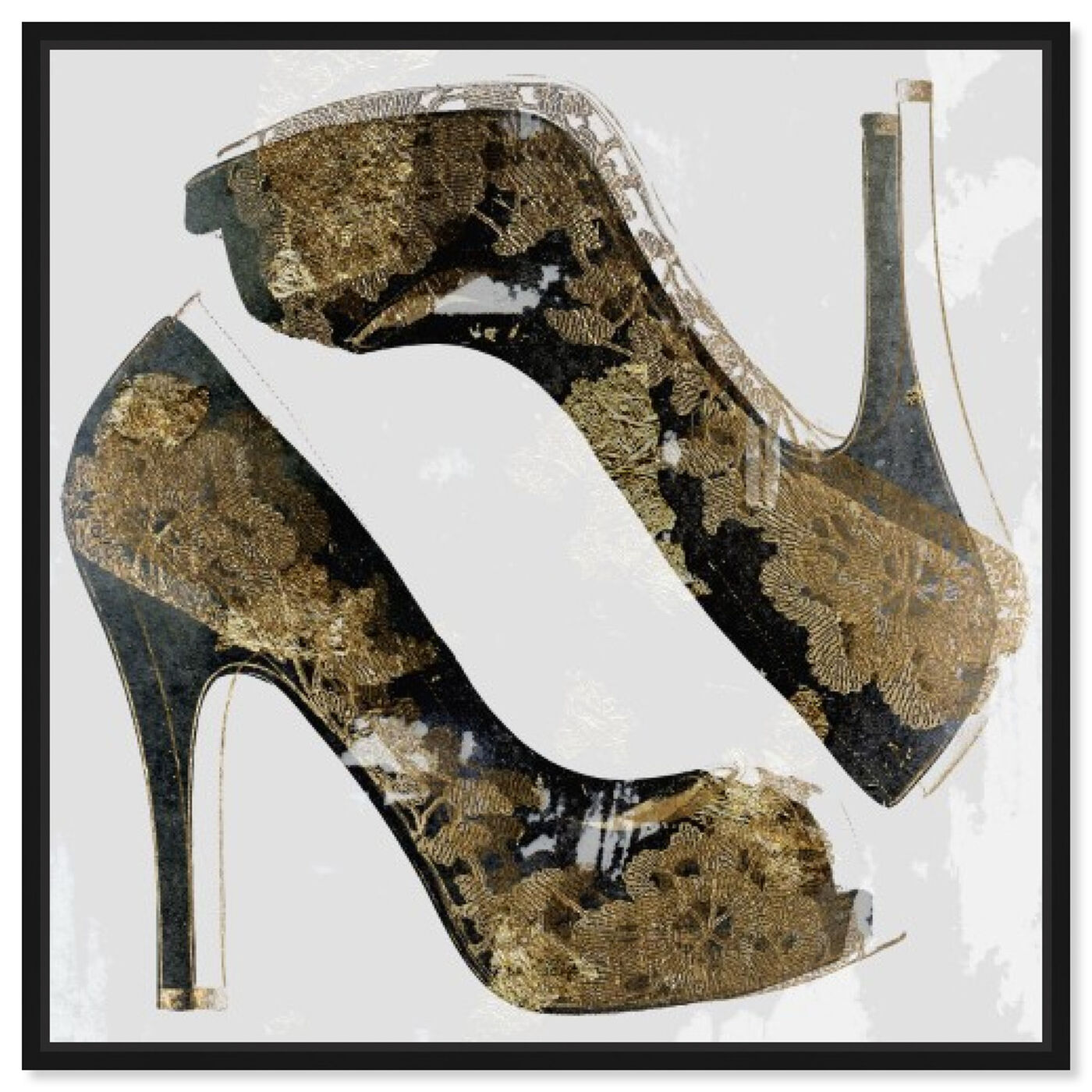 Front view of Gala Stilettos  featuring fashion and glam and shoes art.