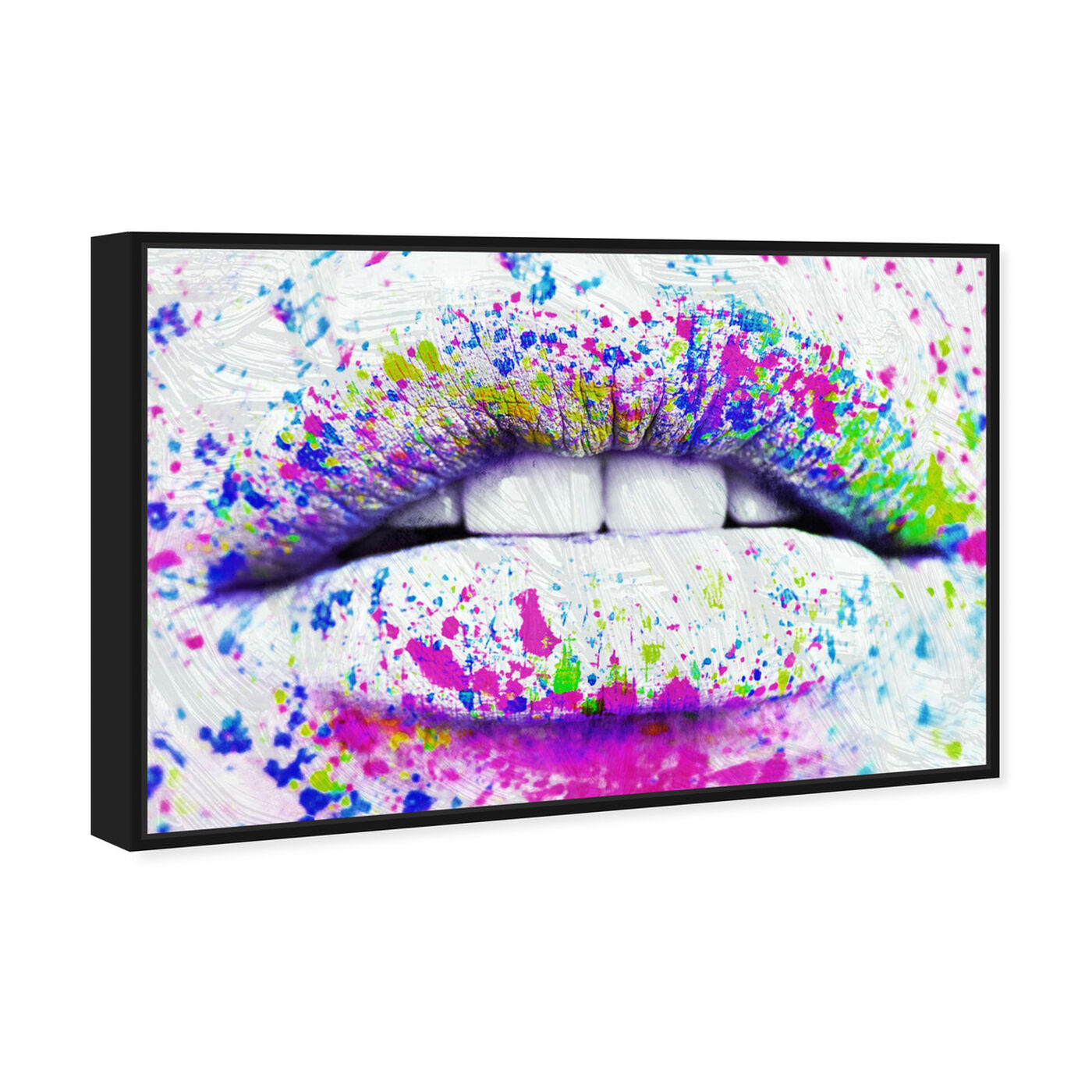 Angled view of Paint Dare featuring fashion and glam and lips art.