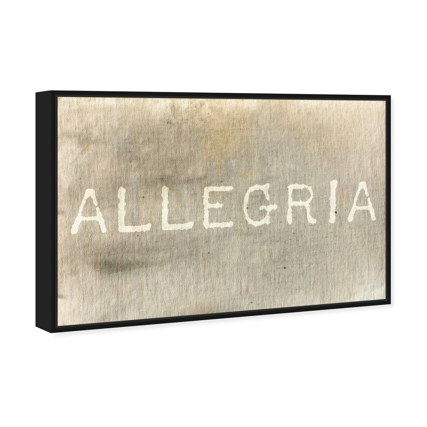Angled view of Allegria featuring typography and quotes and inspirational quotes and sayings art.