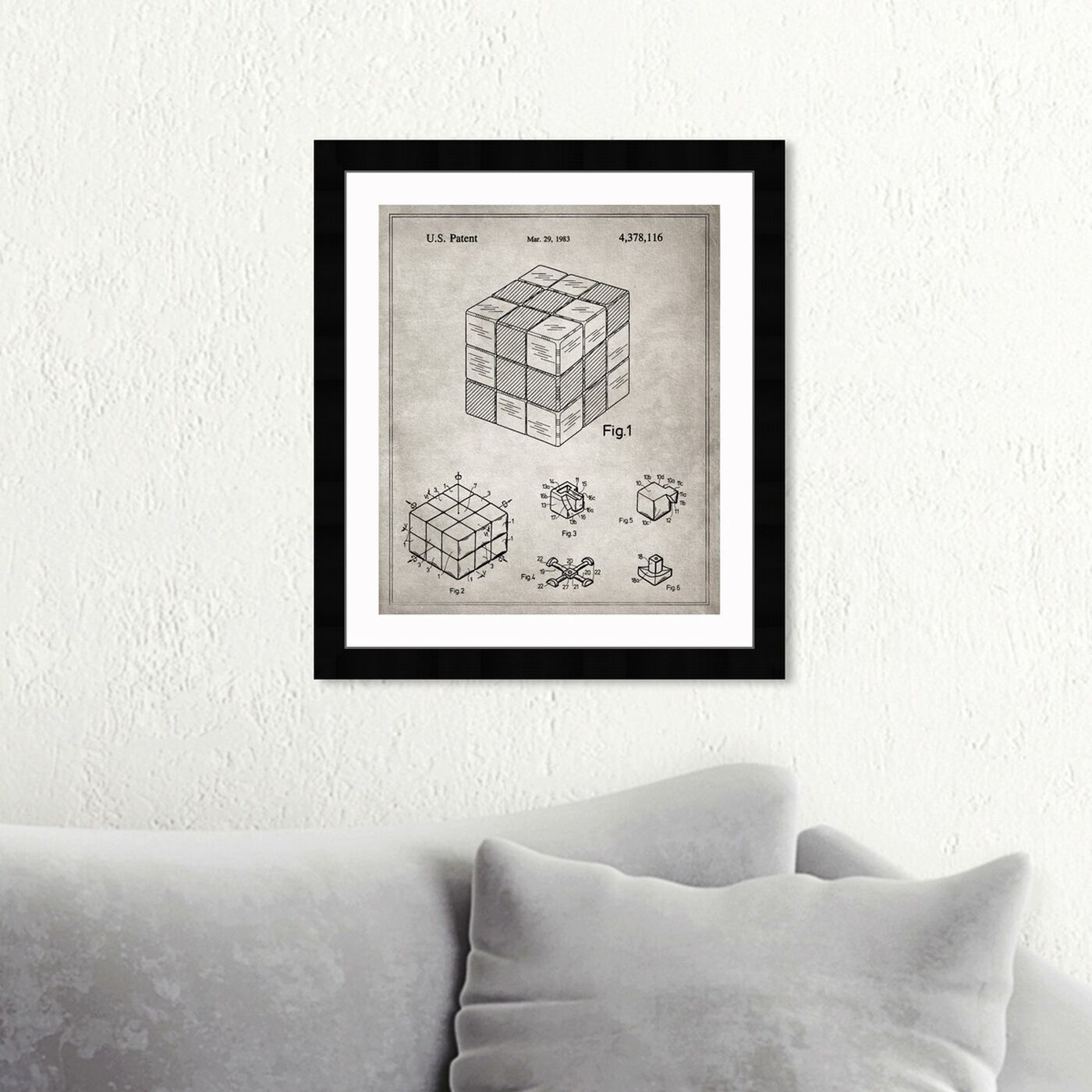 Hanging view of Spatial Logical Toy, 1983- Gray featuring entertainment and hobbies and toys art.