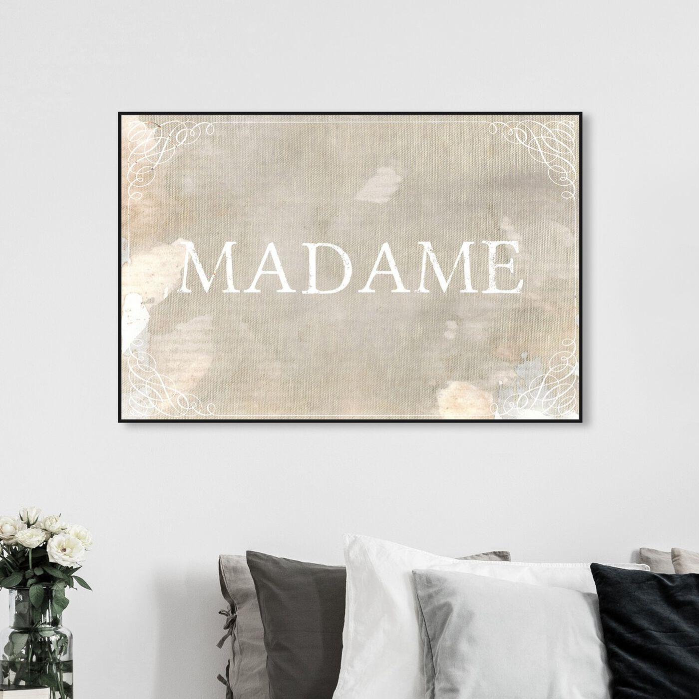 Hanging view of Madame featuring typography and quotes and quotes and sayings art.